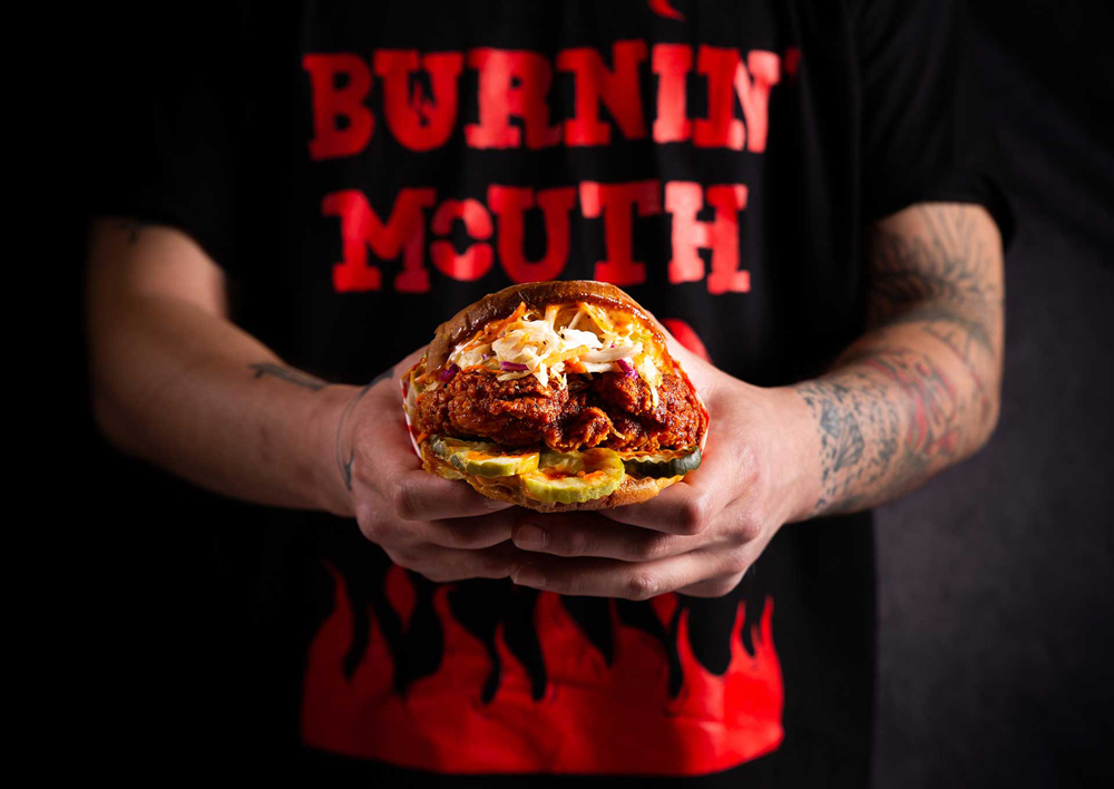 The Coo Coo Nashville hot chicken sandwich, coming to the westside from Burnin' Mouth.
