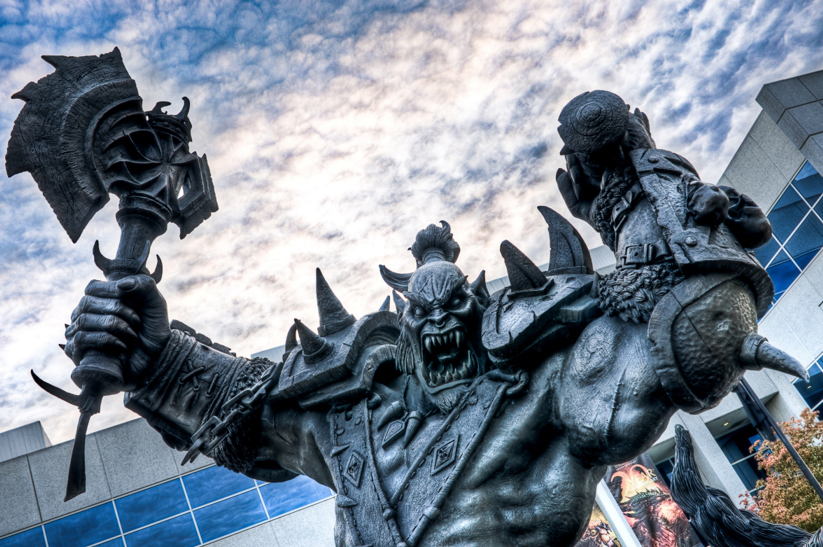 Orc statue in front of Blizzard office