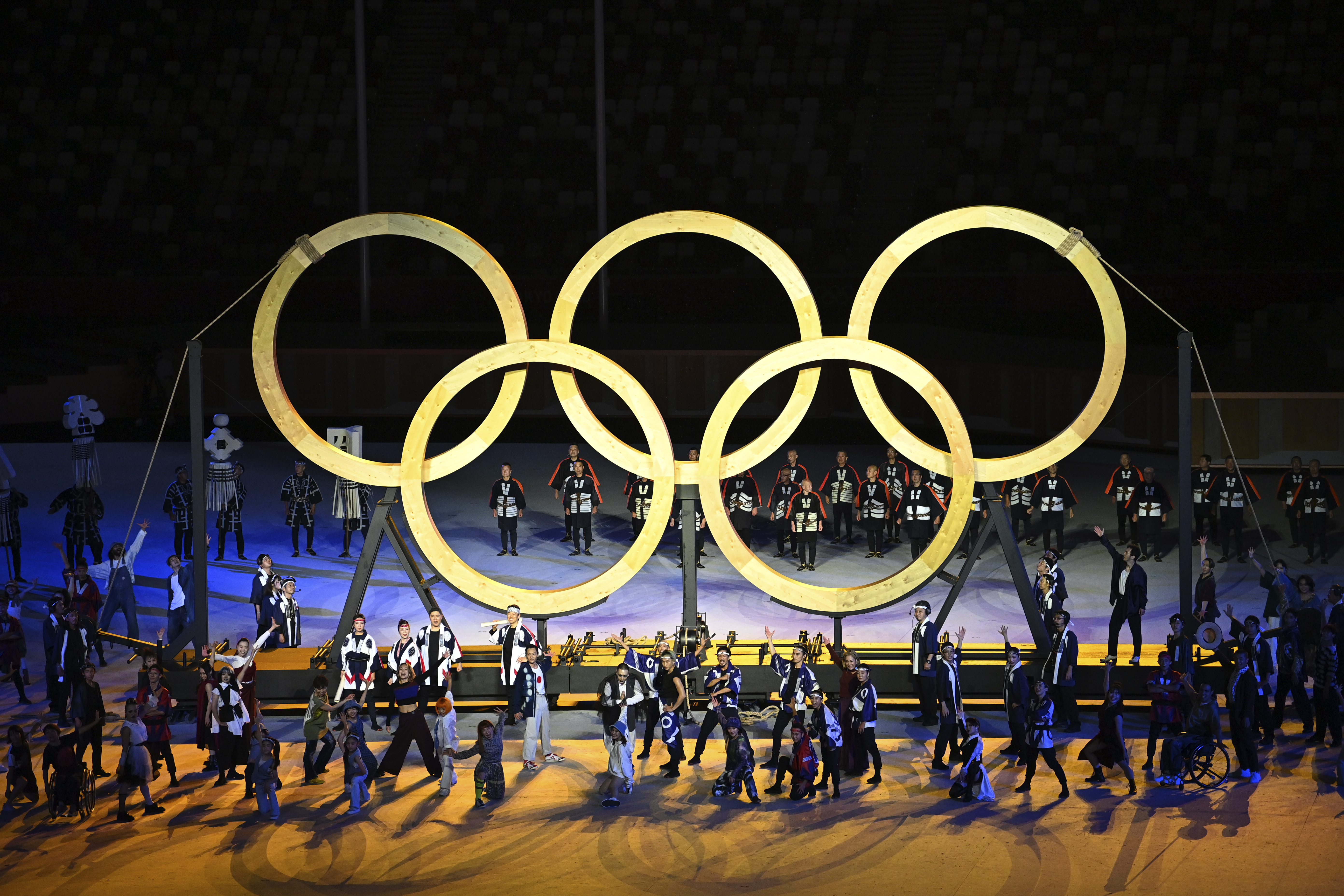 Tthe opening ceremony of the 2020 Summer Olympics, Friday, July 23, 2021, in Tokyo, Japan.