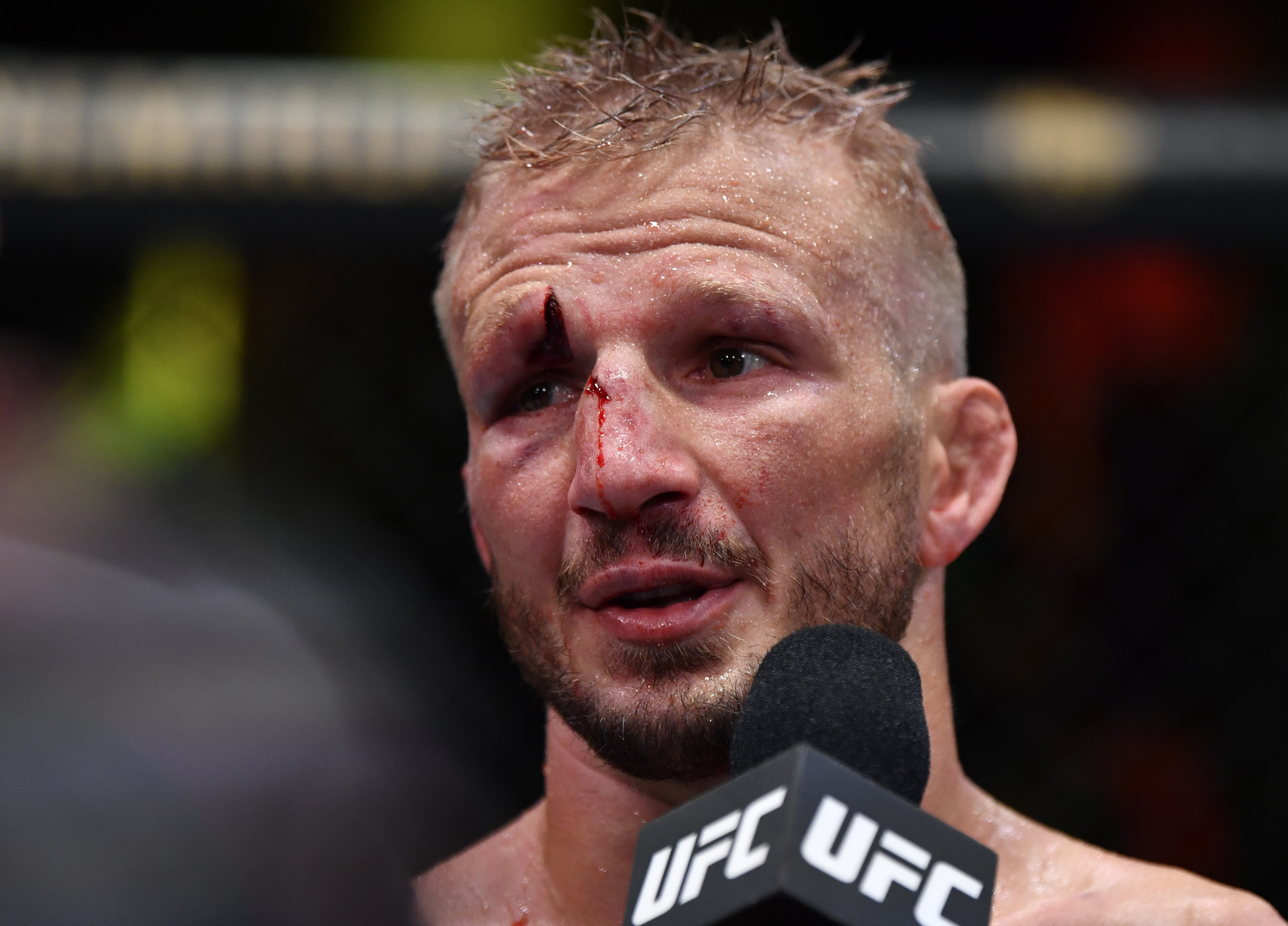 T.J. Dillashaw suffered a massive cut on Saturday at UFC Vegas 32 but was nonetheless allowed to fight on.