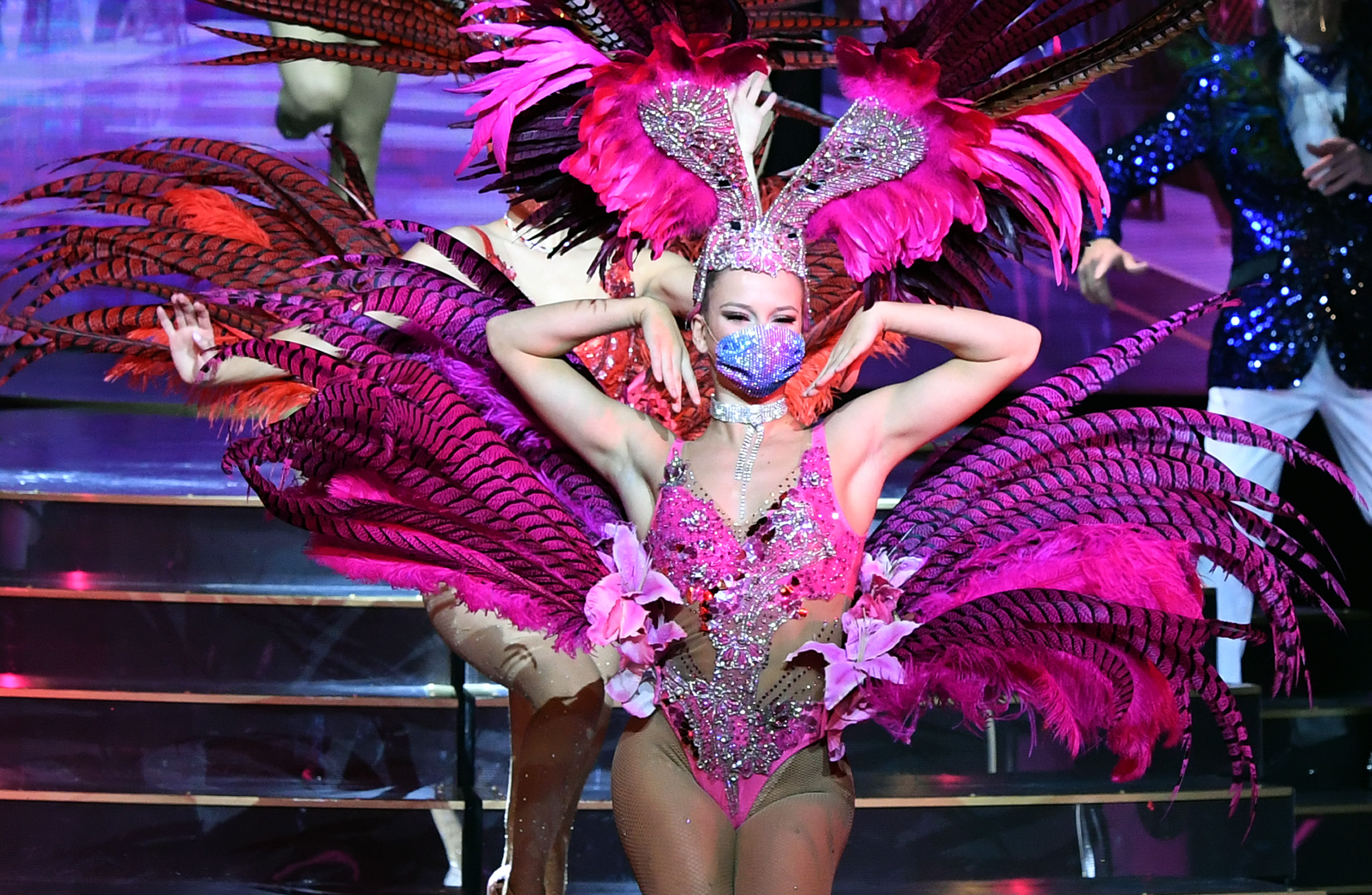 """""""EXTRAVAGANZA - The Vegas Spectacular"""" Show Reopens As Las Vegas Entertainment Attempts Comeback Amid Pandemic"""