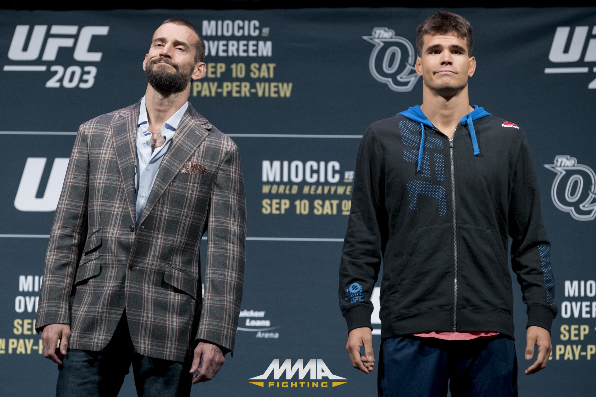 CM Punk with Mickey Gall