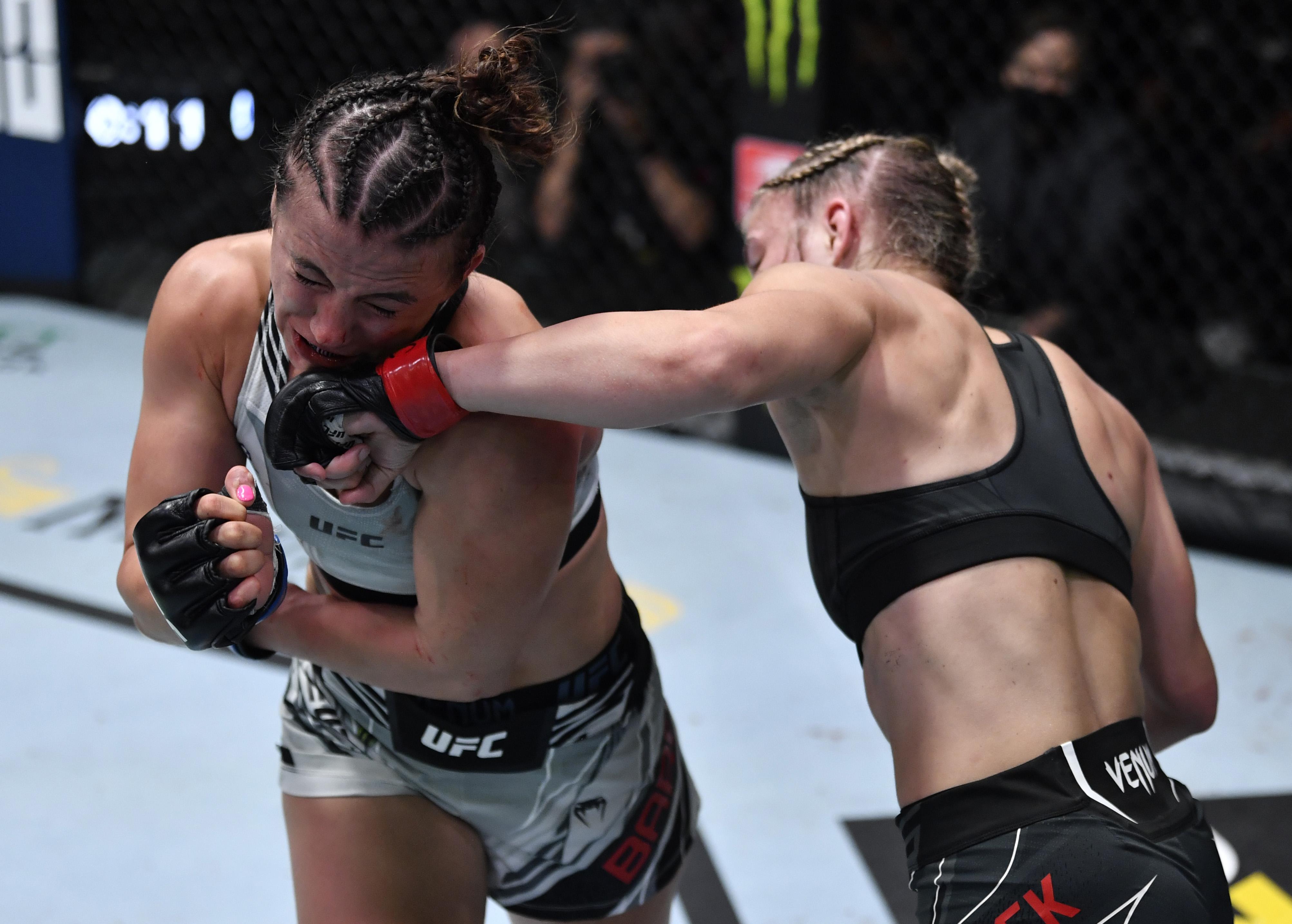 Maycee Barber faced Miranda Maverick at UFC Vegas 32