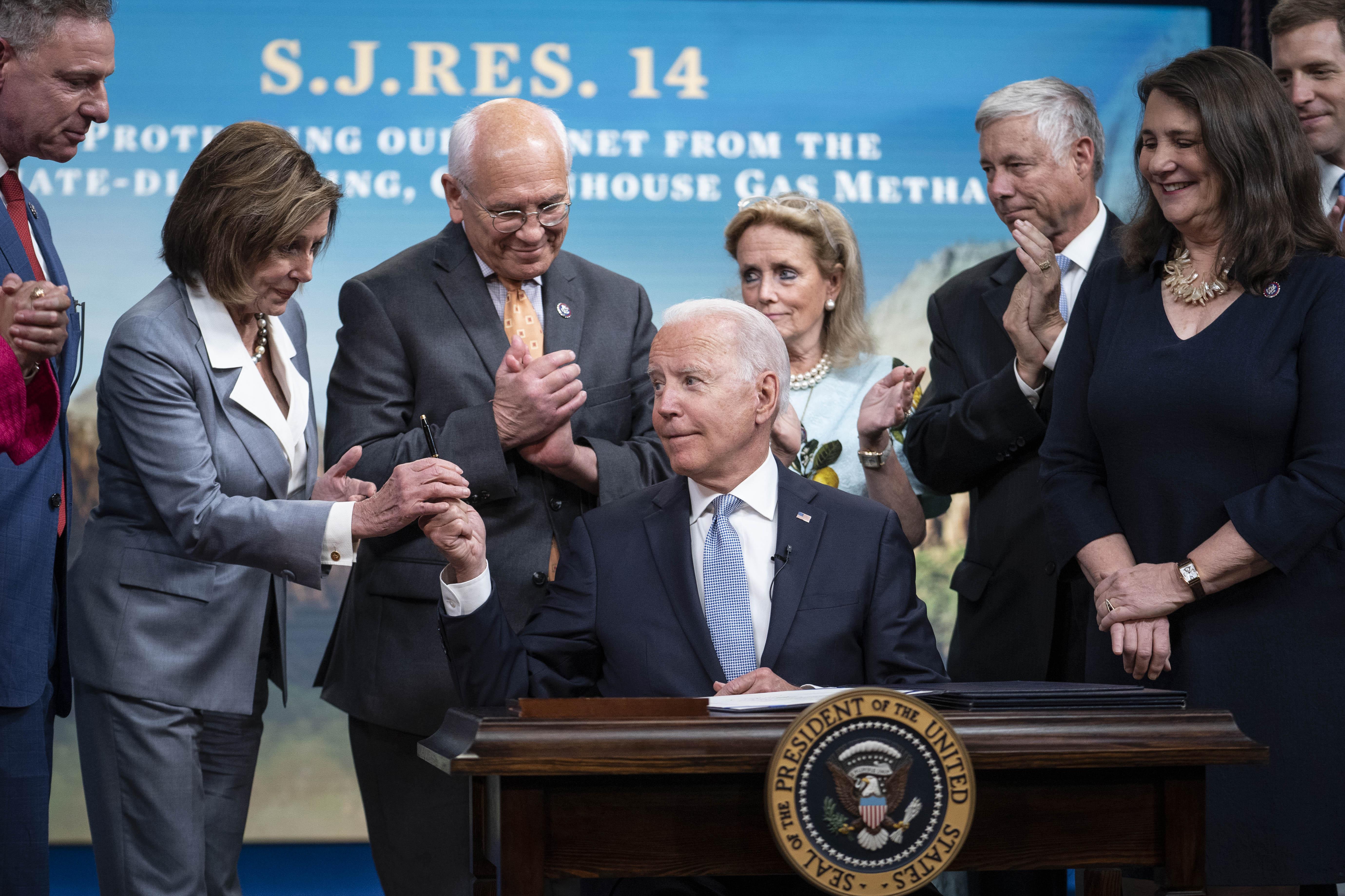 President Biden Signs Congressional Review Act Bills