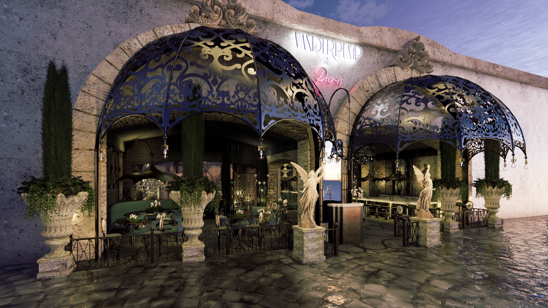 A rendering of a future bar from Lisa Vanderpump