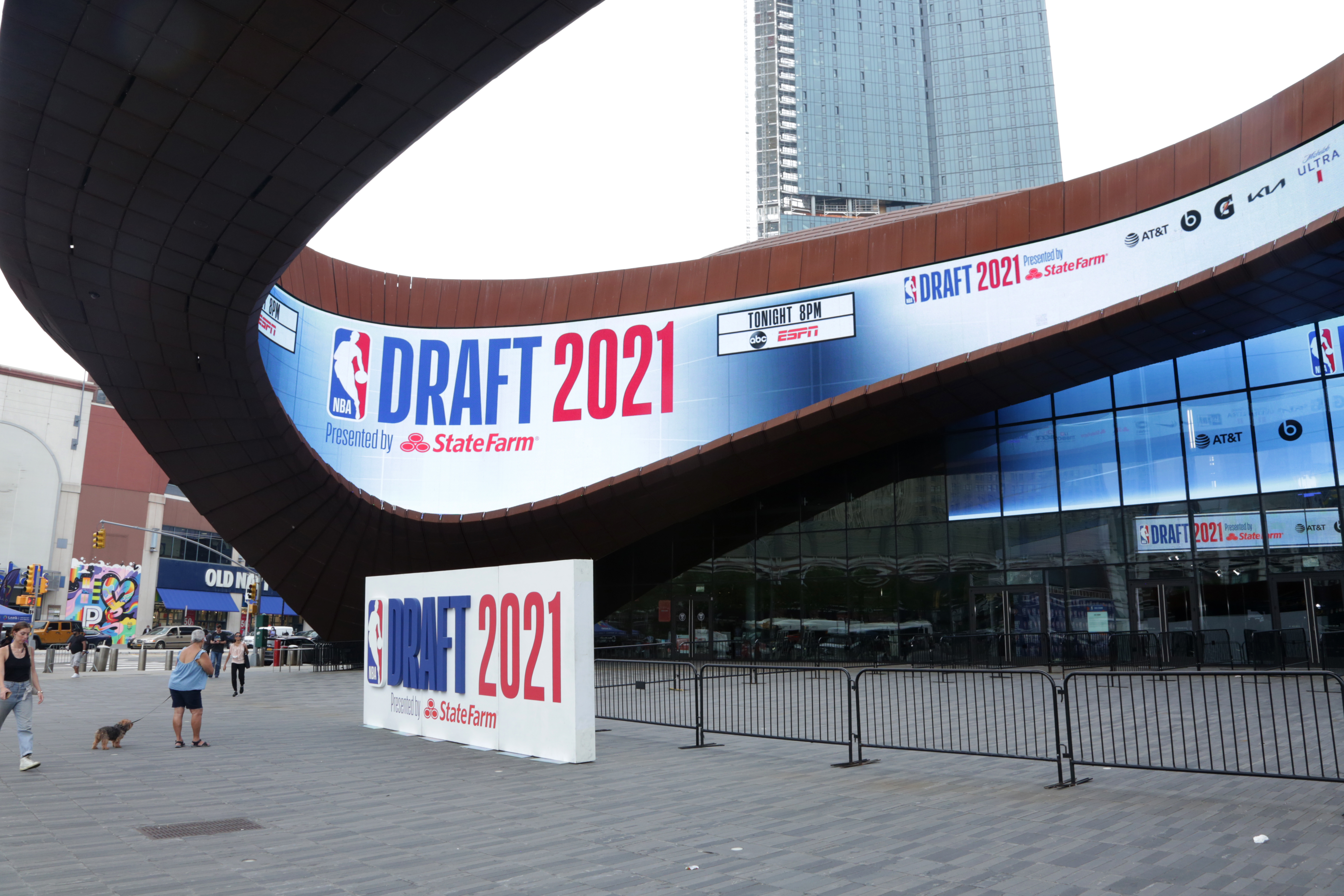 An overall exterior arena shot before the 2021 NBA Draft on July 29, 2021 at Barclays Center in Brooklyn, New York.