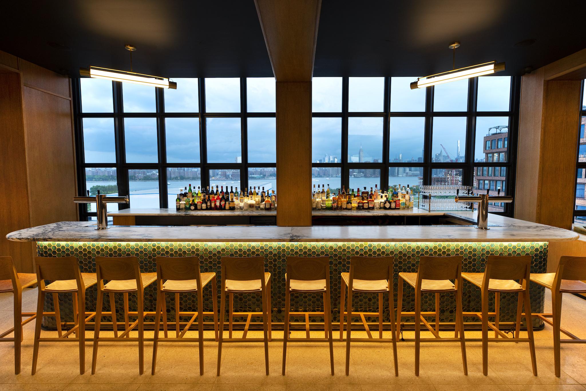 Brooklyn bar with Manhattan views