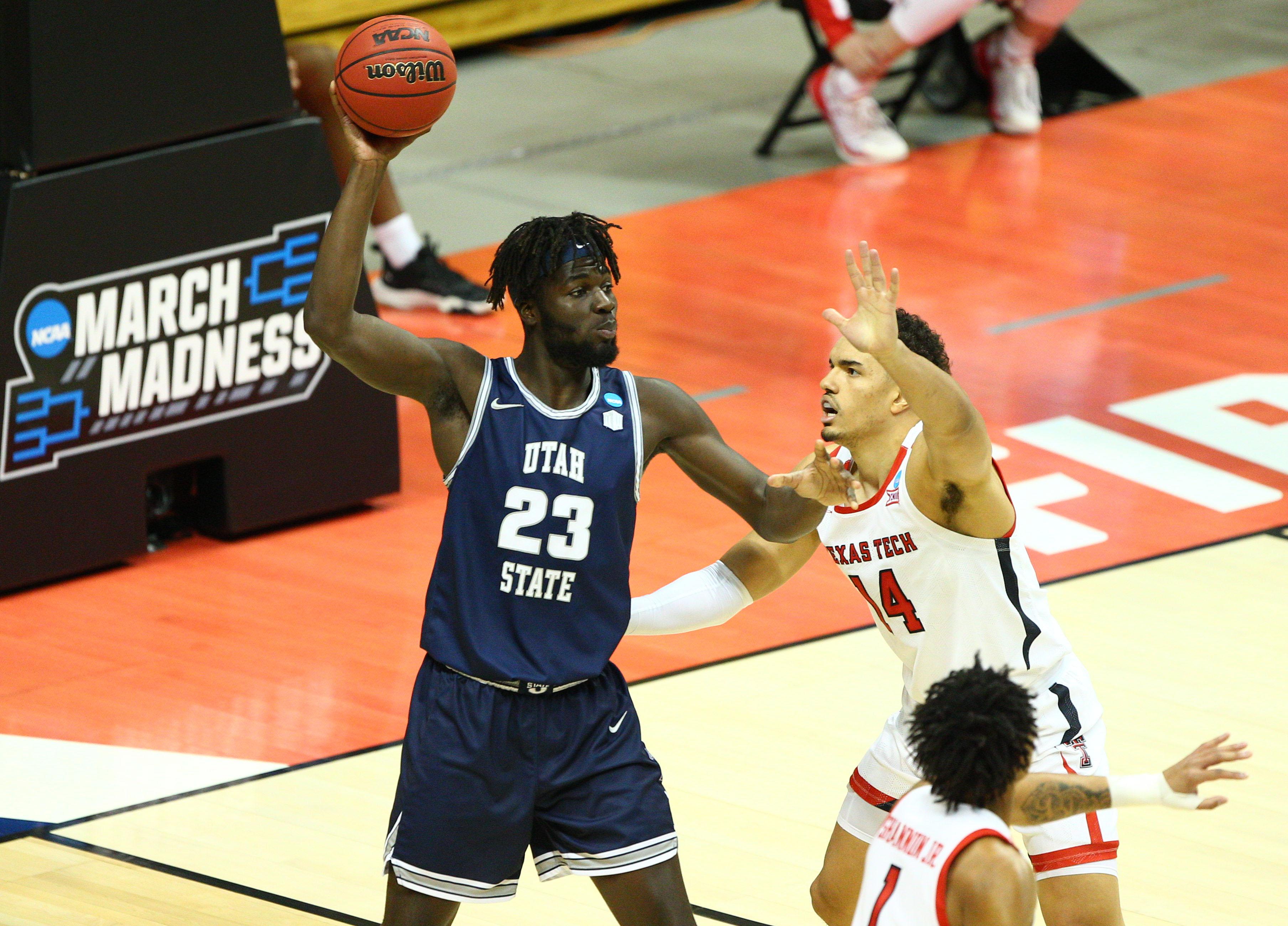 NCAA Basketball: NCAA Tournament-Utah State at Texas Tech