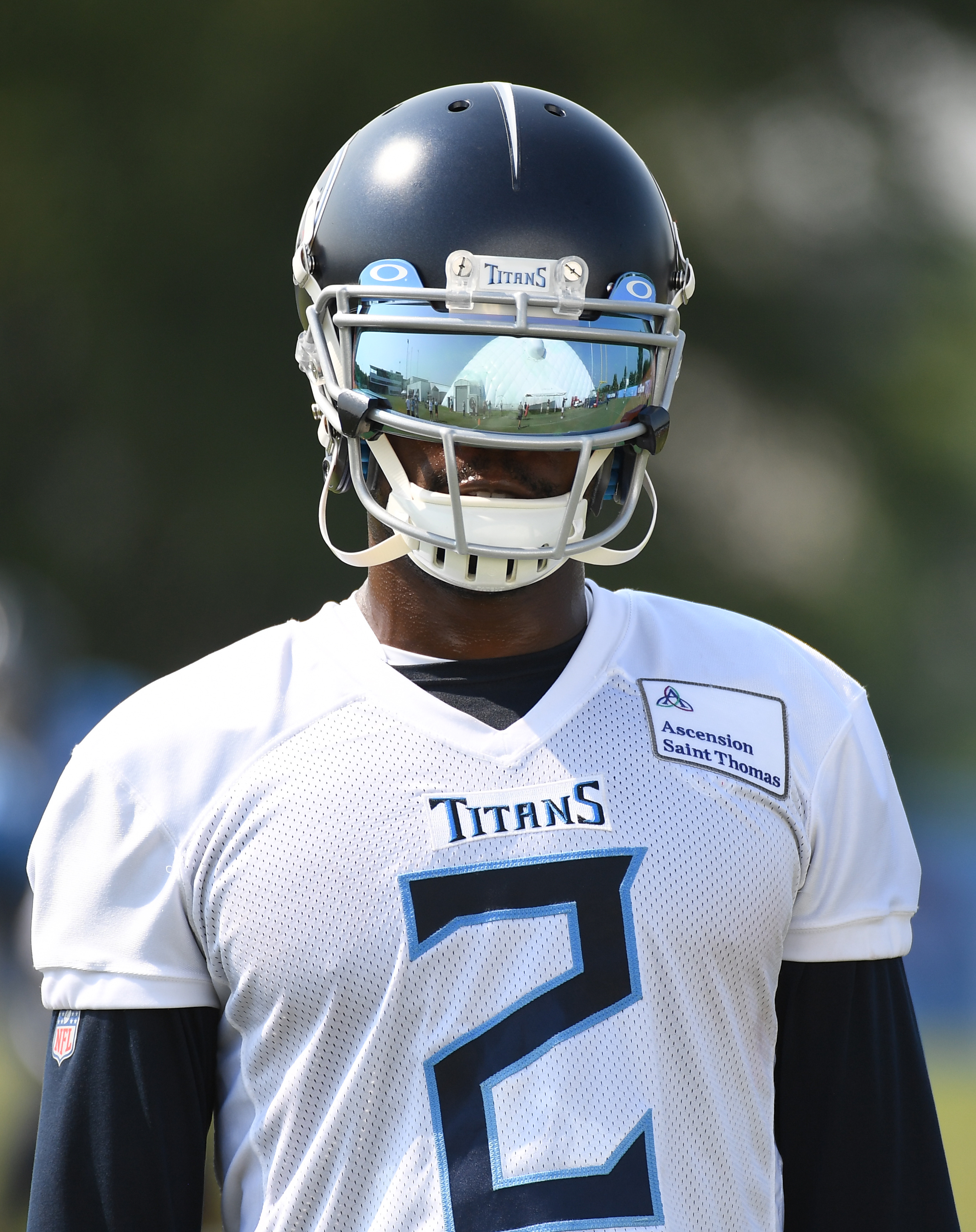 Tennessee Titans wide receiver Julio Jones (2) during training camp at Saint Thomas Sports Park.