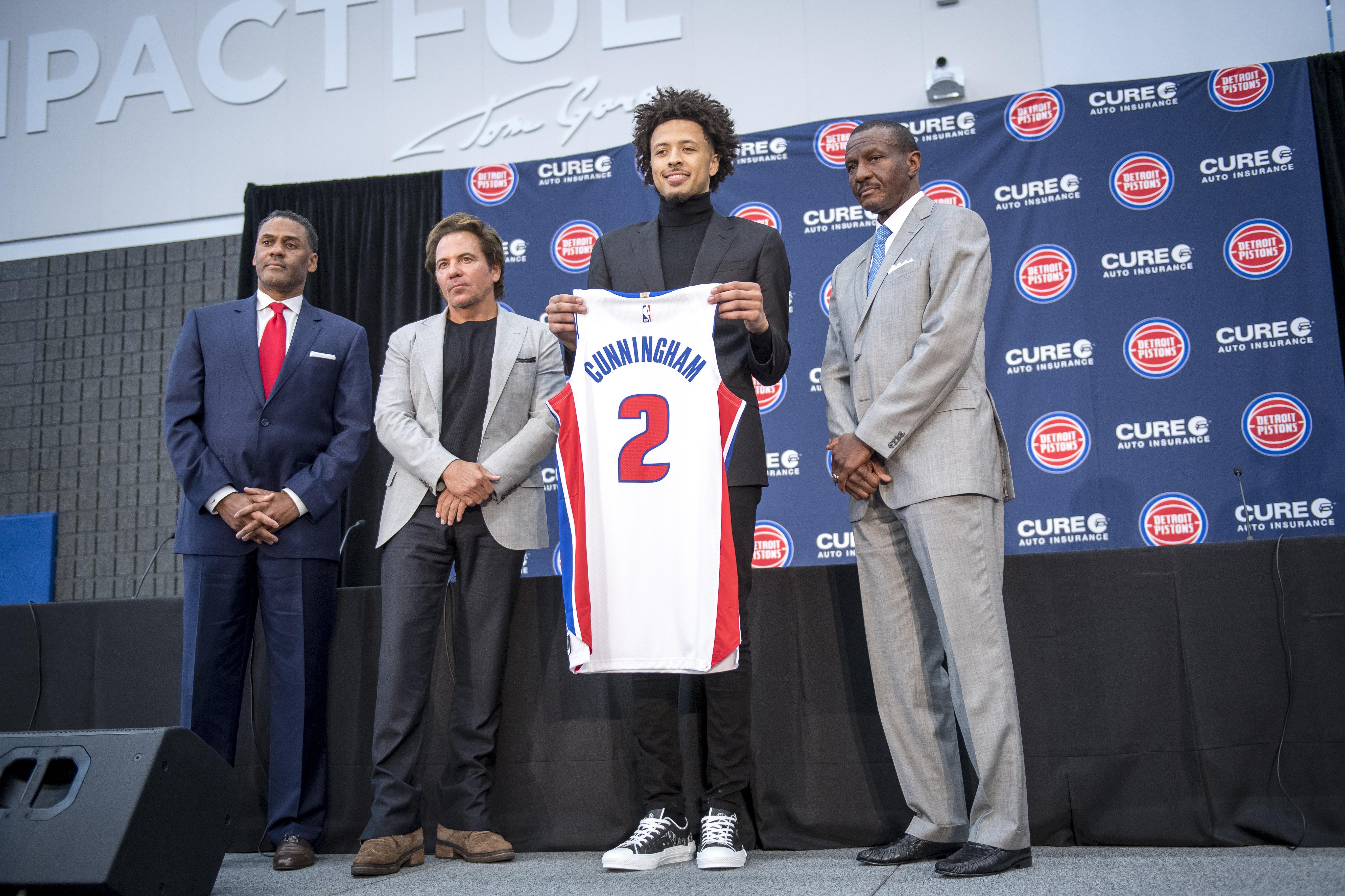 Detroit Pistons Introduce First NBA Draft First Overall Pick Cade Cunningham