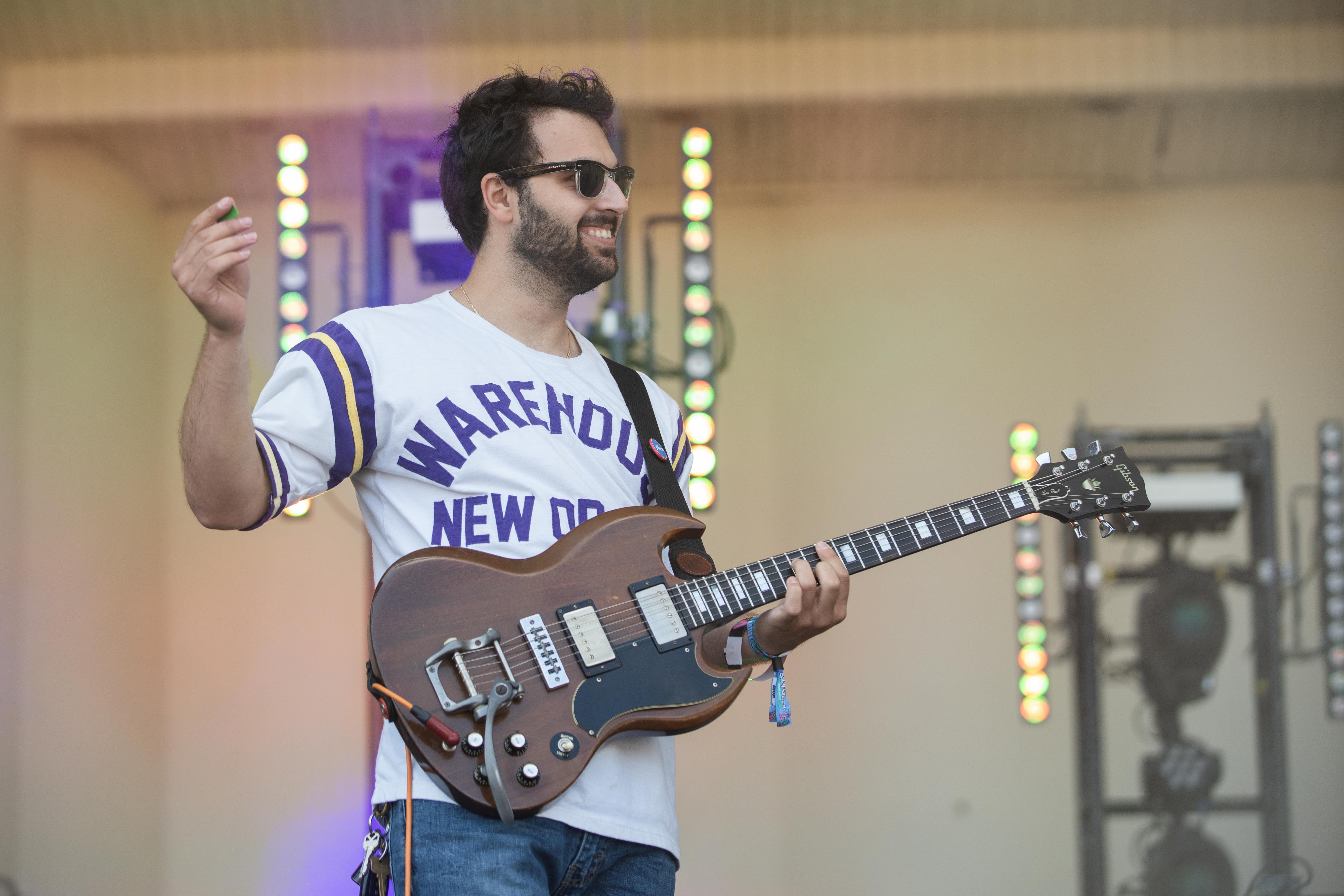 Dimitri Panoutsos and the rest of Rookie perform Friday afternoon at Lollapalooza 2021.
