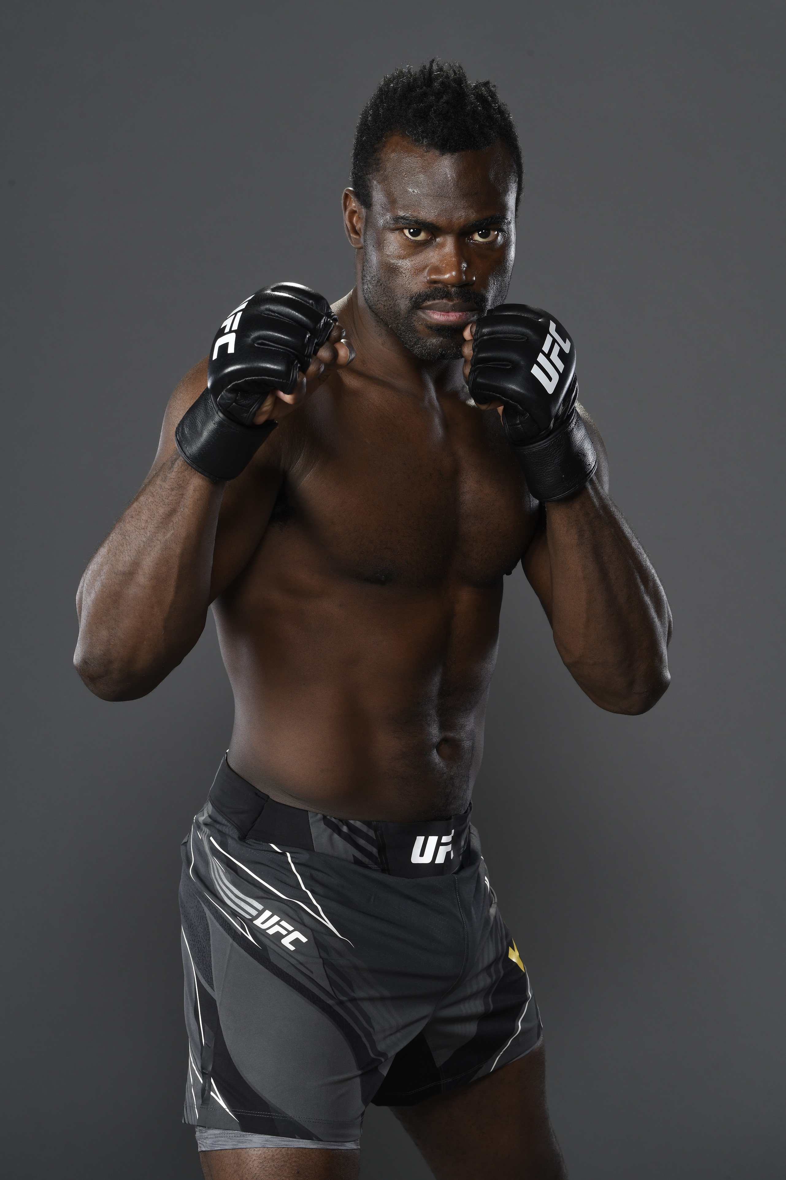 Uriah Hall of Jamaica poses for a post fight portrait backstage during the UFC 261 event at VyStar Veterans Memorial Arena on April 24, 2021 in Jacksonville, Florida.
