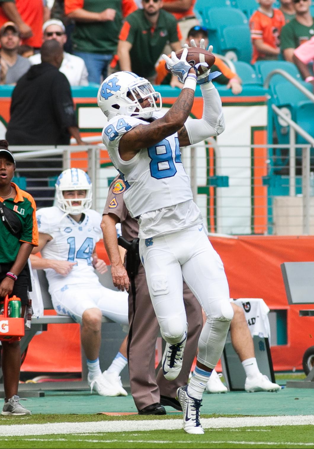 NCAA FOOTBALL: OCT 15 North Carolina at Miami