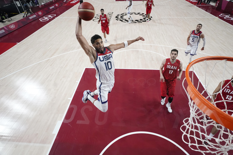 Olympics: Basketball-Men Group A - USA-IRI
