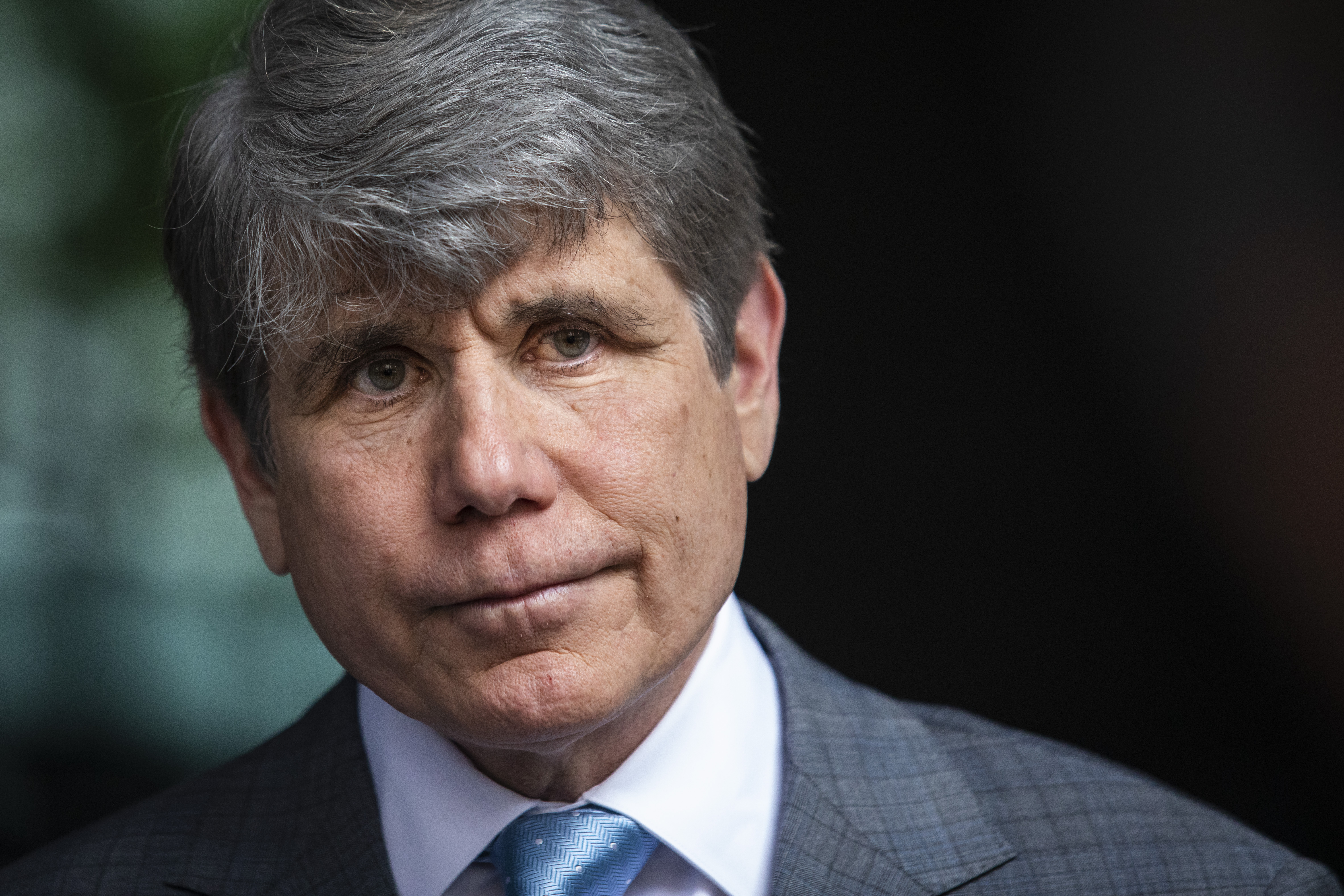 Former Gov. Rod Blagojevich speaks during a news conference outside the Dirksen Federal Courthouse before filing a suit to challenge the Illinois General Assembly's disqualifying resolution that prohibits him from running for any state or local office, Monday afternoon, Aug. 2, 2021.