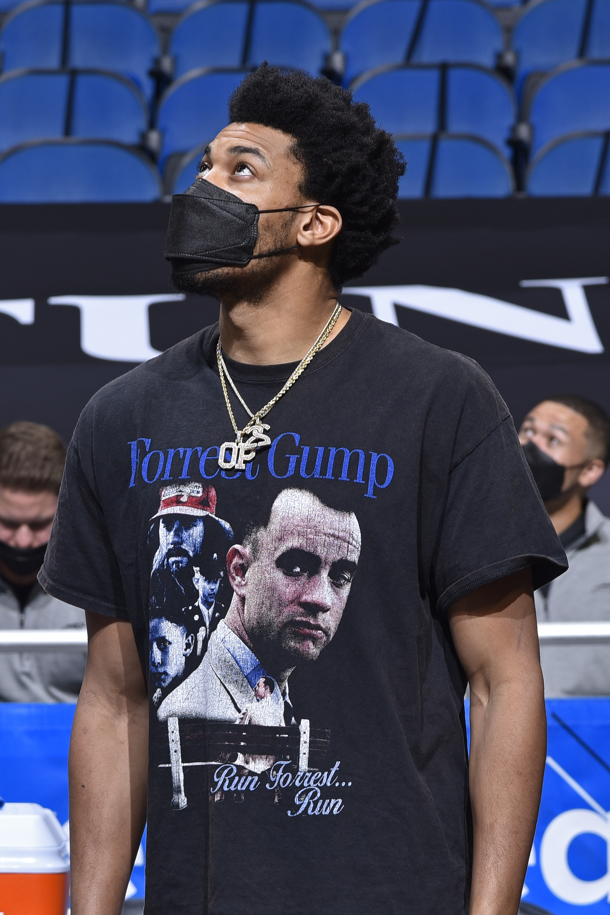 Otto Porter Jr. #22 of the Orlando Magic looks on during the game against the Washington Wizards on April 7, 2021 at Amway Center in Orlando, Florida.