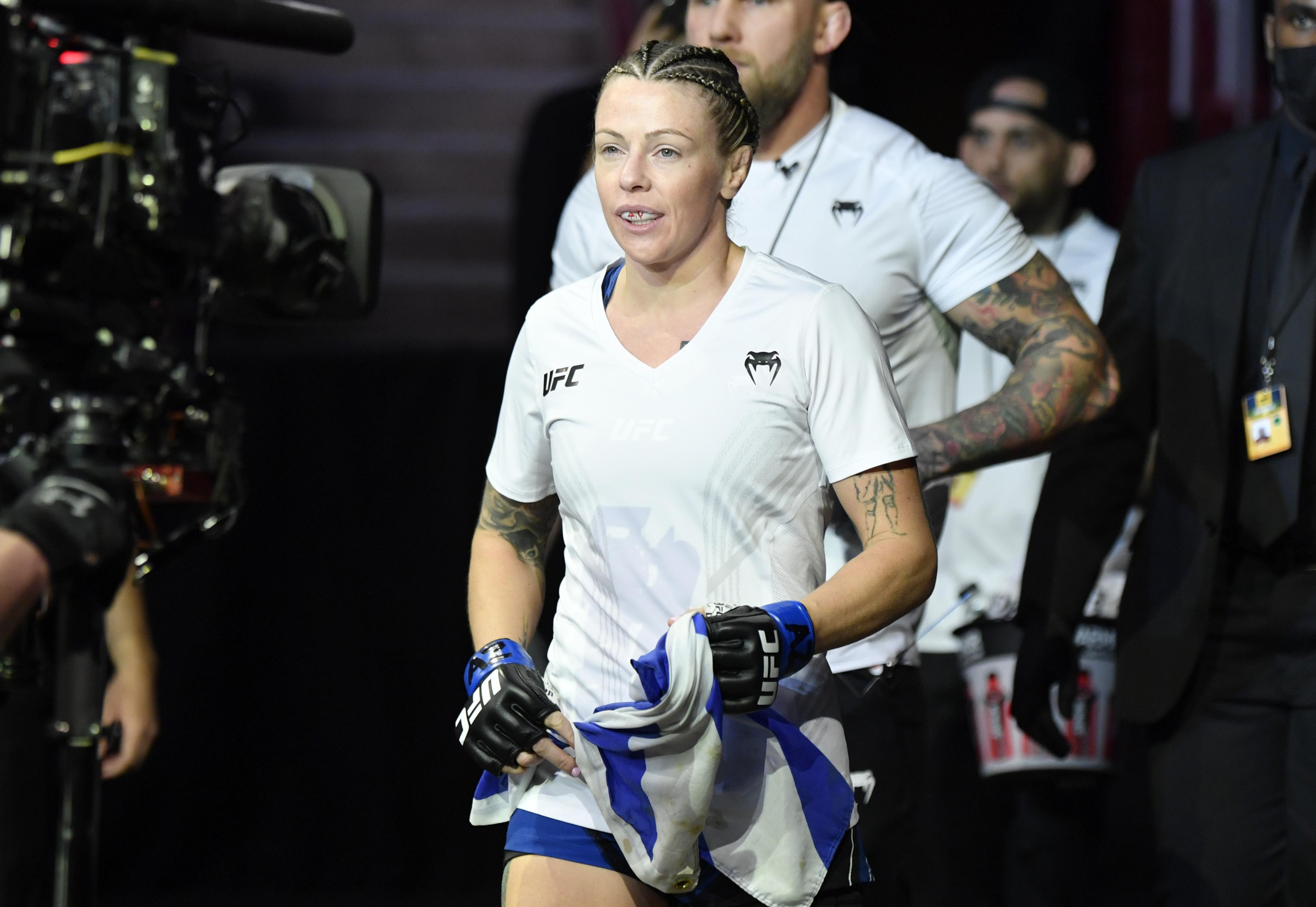 Joanne Calderwood ahead of her fight with Lauren Murphy at UFC 263.