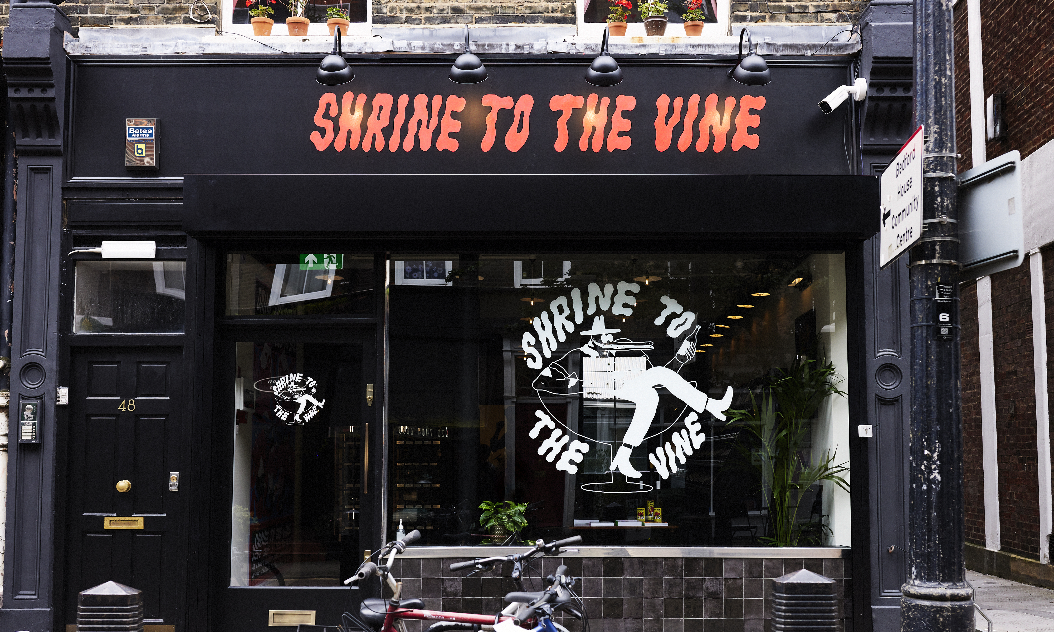 Outside the Noble Rot owner's new wine shop, Shrine to the Vine on Lamb's Conduit Street