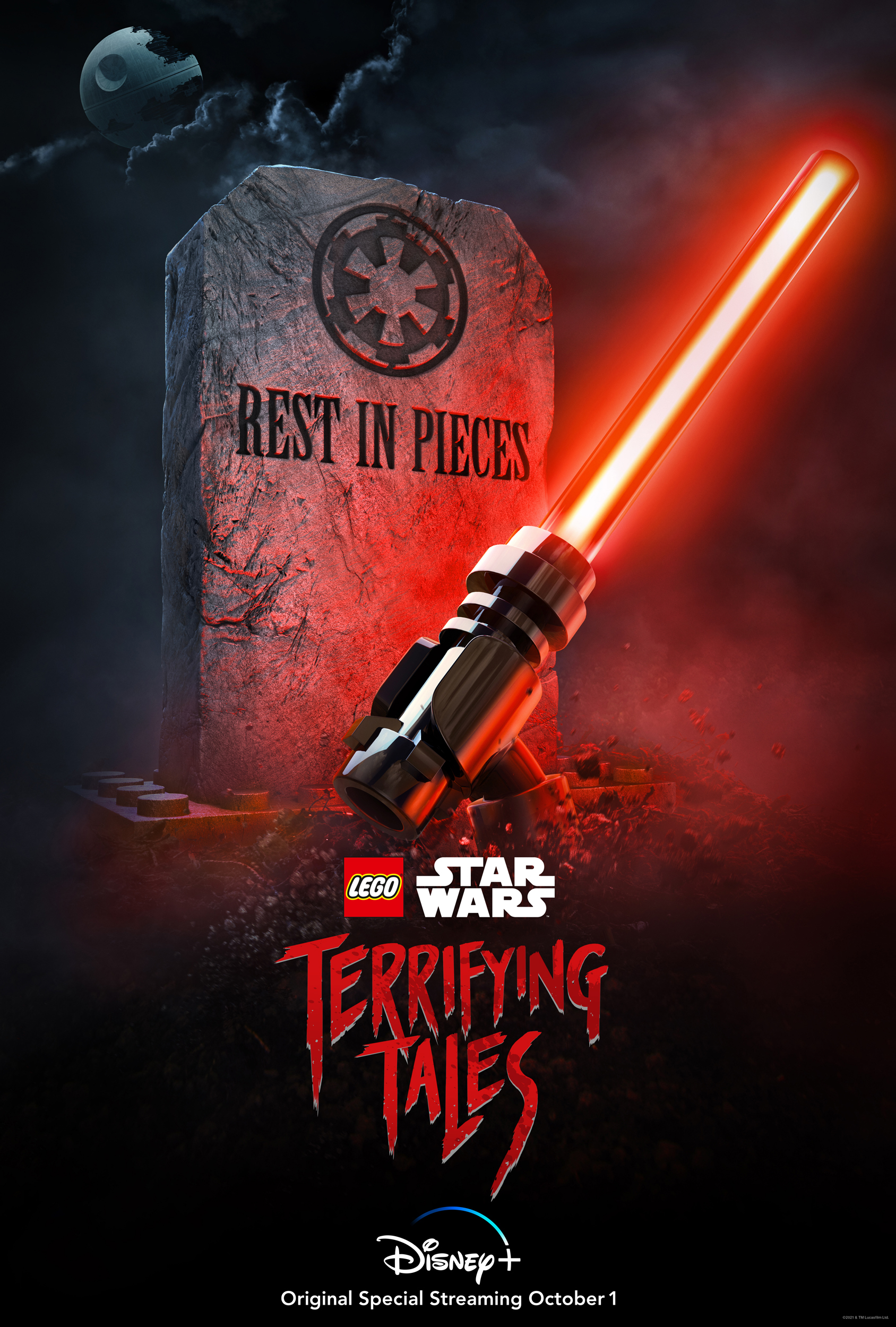 The poster for the Lego Star Wars Halloween special