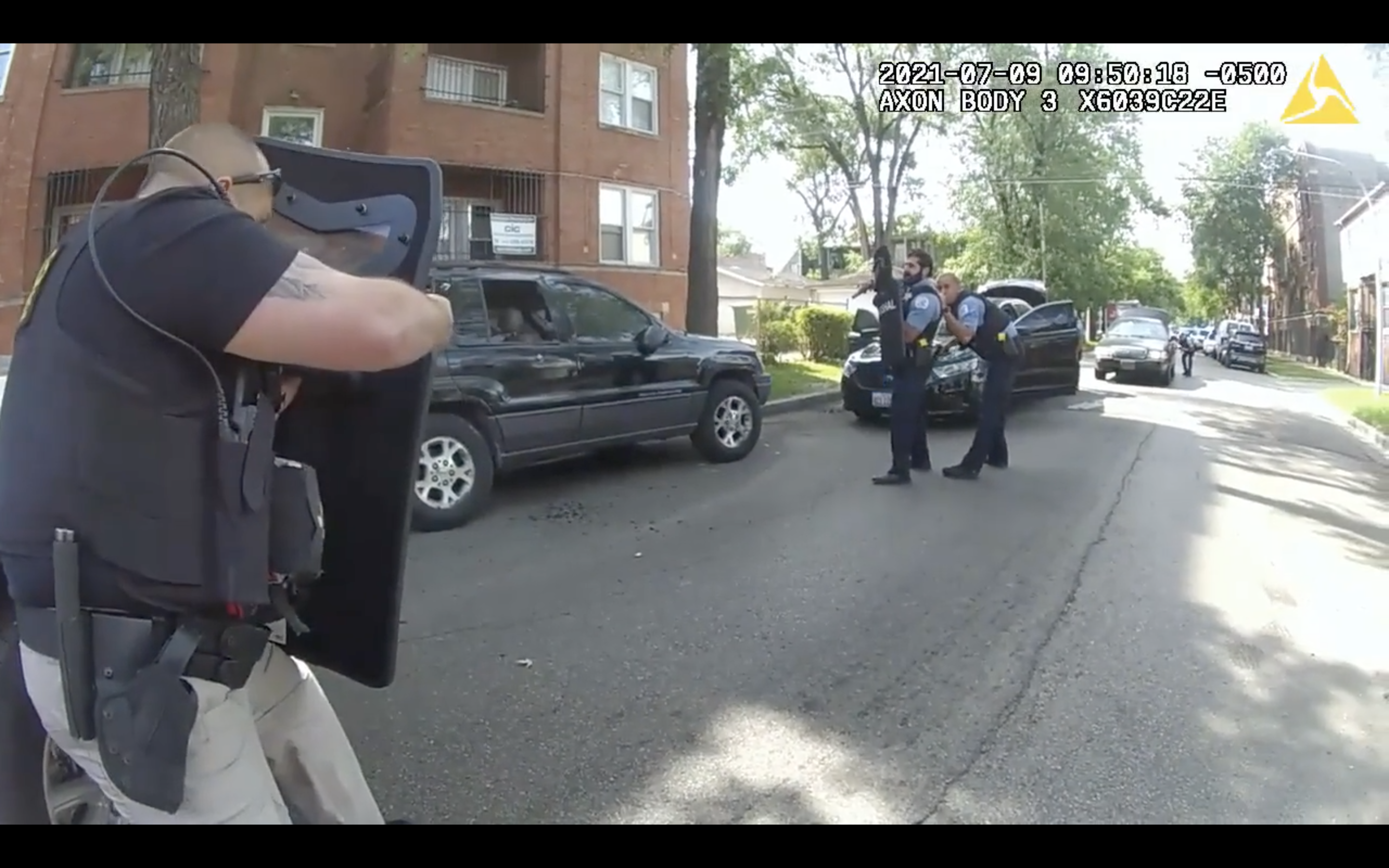 Moments after a shootout in the 100 block of South Kilpatrick last month captured on video from a police officer's body-worn camera