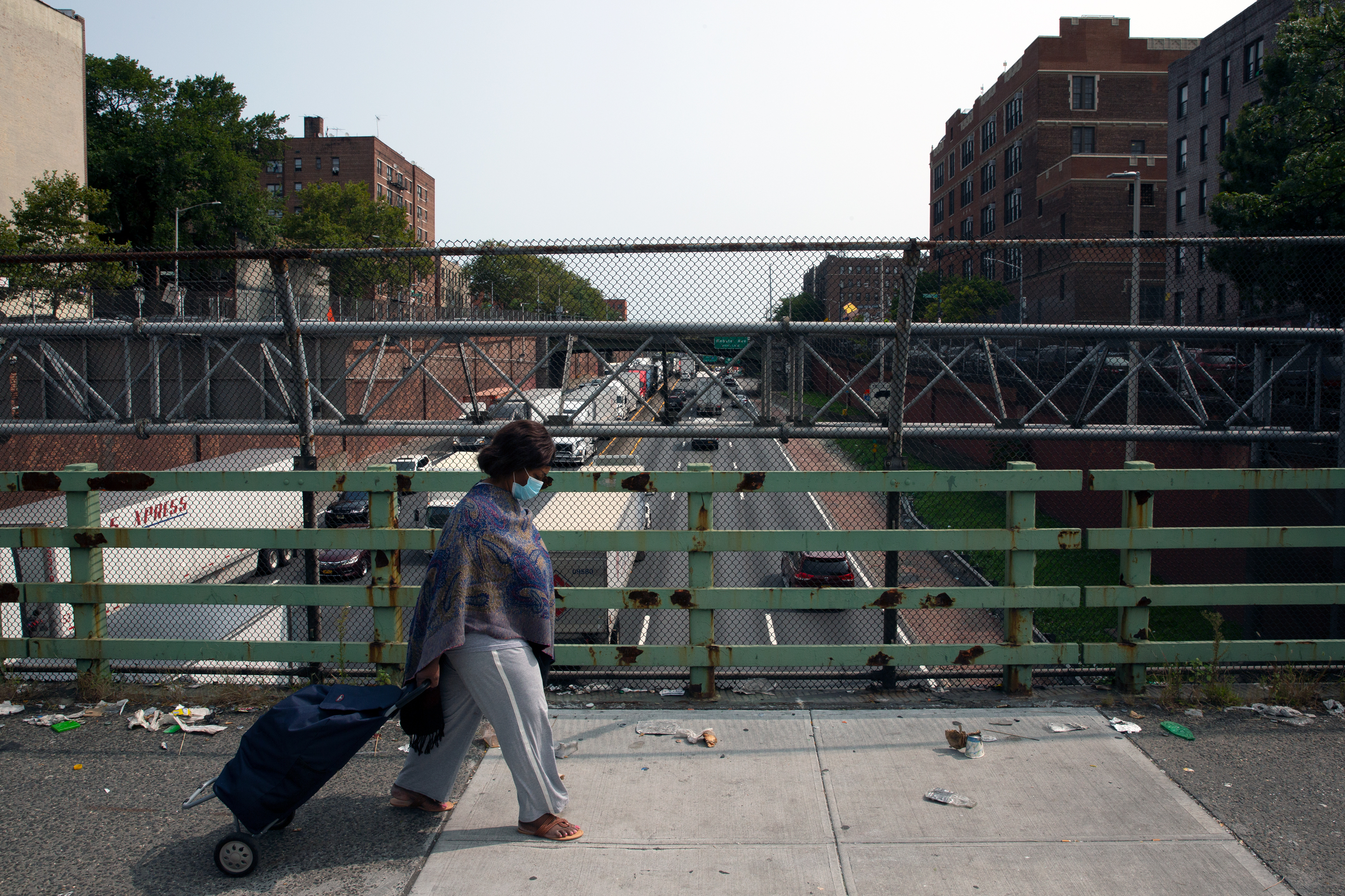 There has been higher rates of pollution in The Bronx caused by highways including the Cross Bronx Expressway, Sept. 15, 2020.
