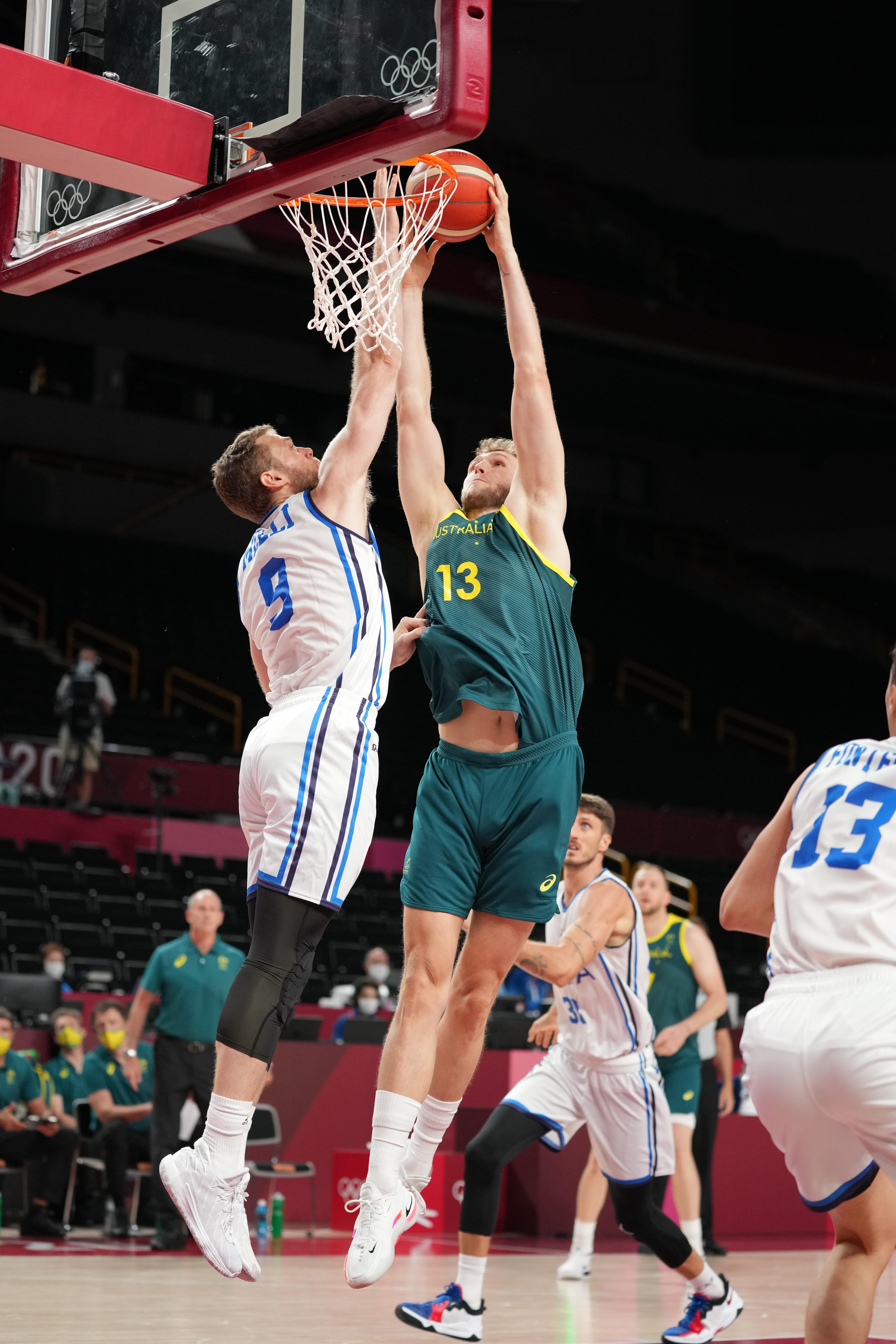 Olympics: Basketball-Men Group B AUS - ITA