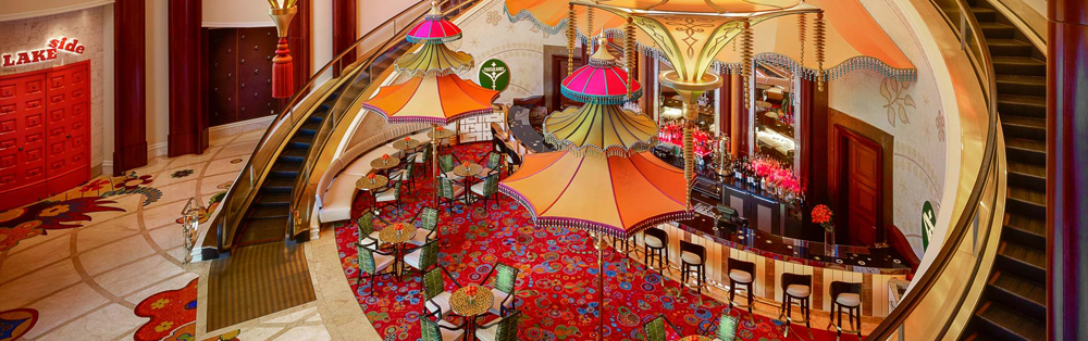 The Parasol Down cocktail lounge at Wynn Las Vegas, soon to be upgraded with an $800,000 budget.
