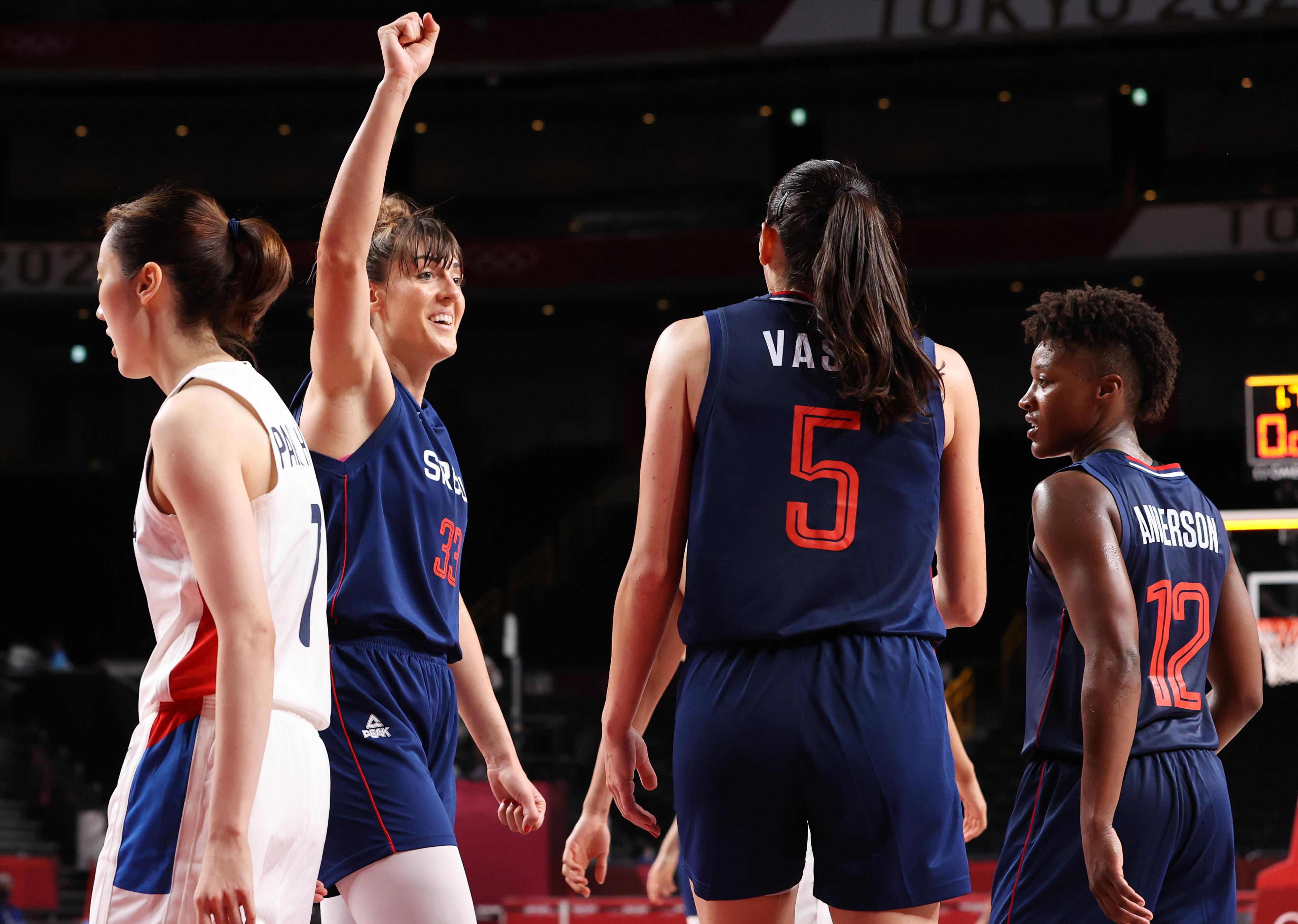 South Korea v Serbia Women's Basketball - Olympics: Day 9
