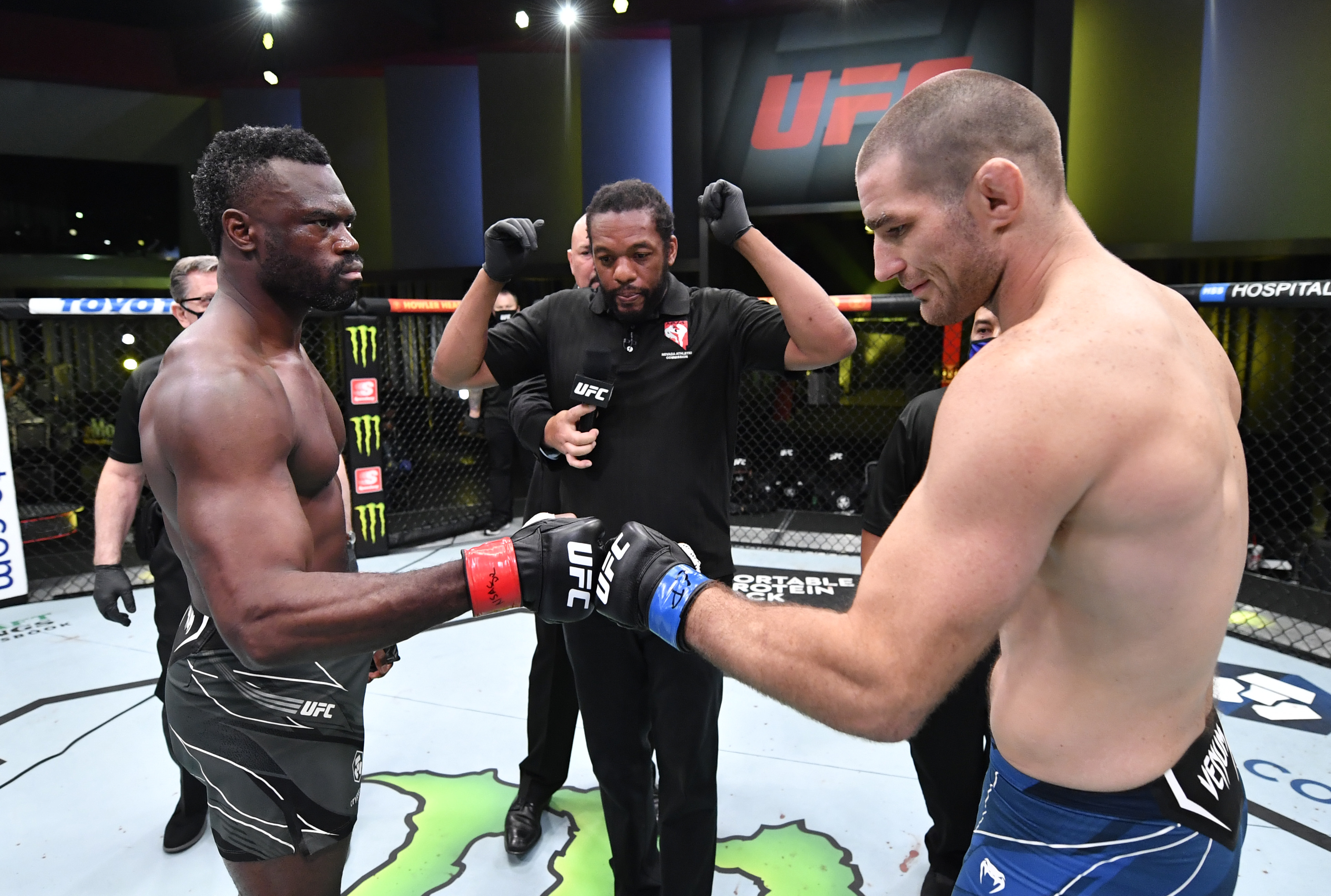 Uriah Hall and Sean Strickland before their fight at UFC Vegas 33.