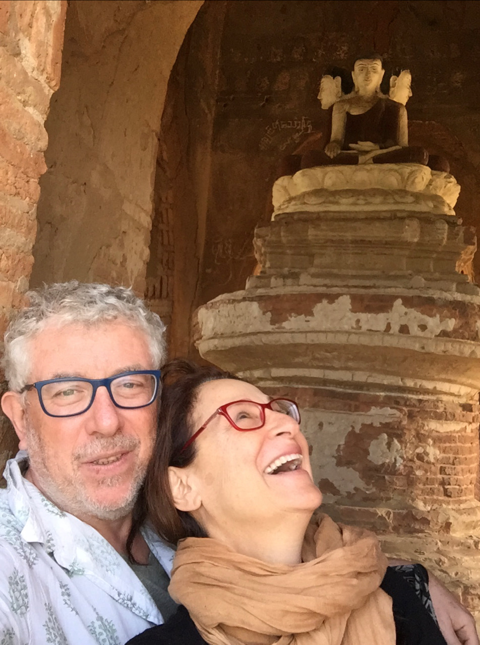 Ben Sandzer-Bell and Peta Kaplan in Sri Lanka.