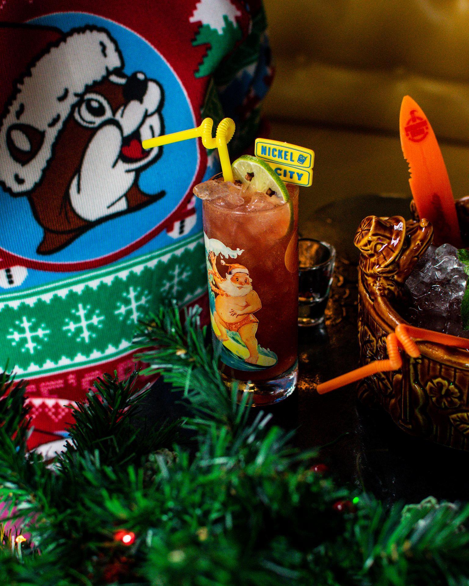 A Sippin' Santa cocktail at Nickel City