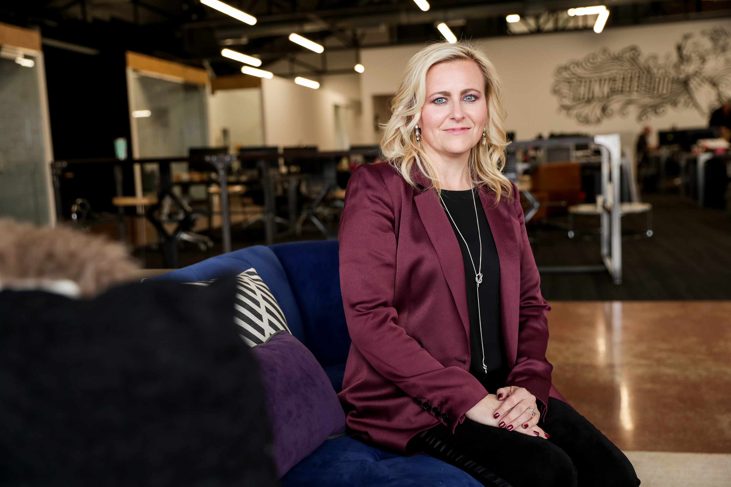 Cydni Tetro, CEO and founder of ForgeDX, poses for photos at the company's office in Salt Lake City on Jan. 18, 2019.