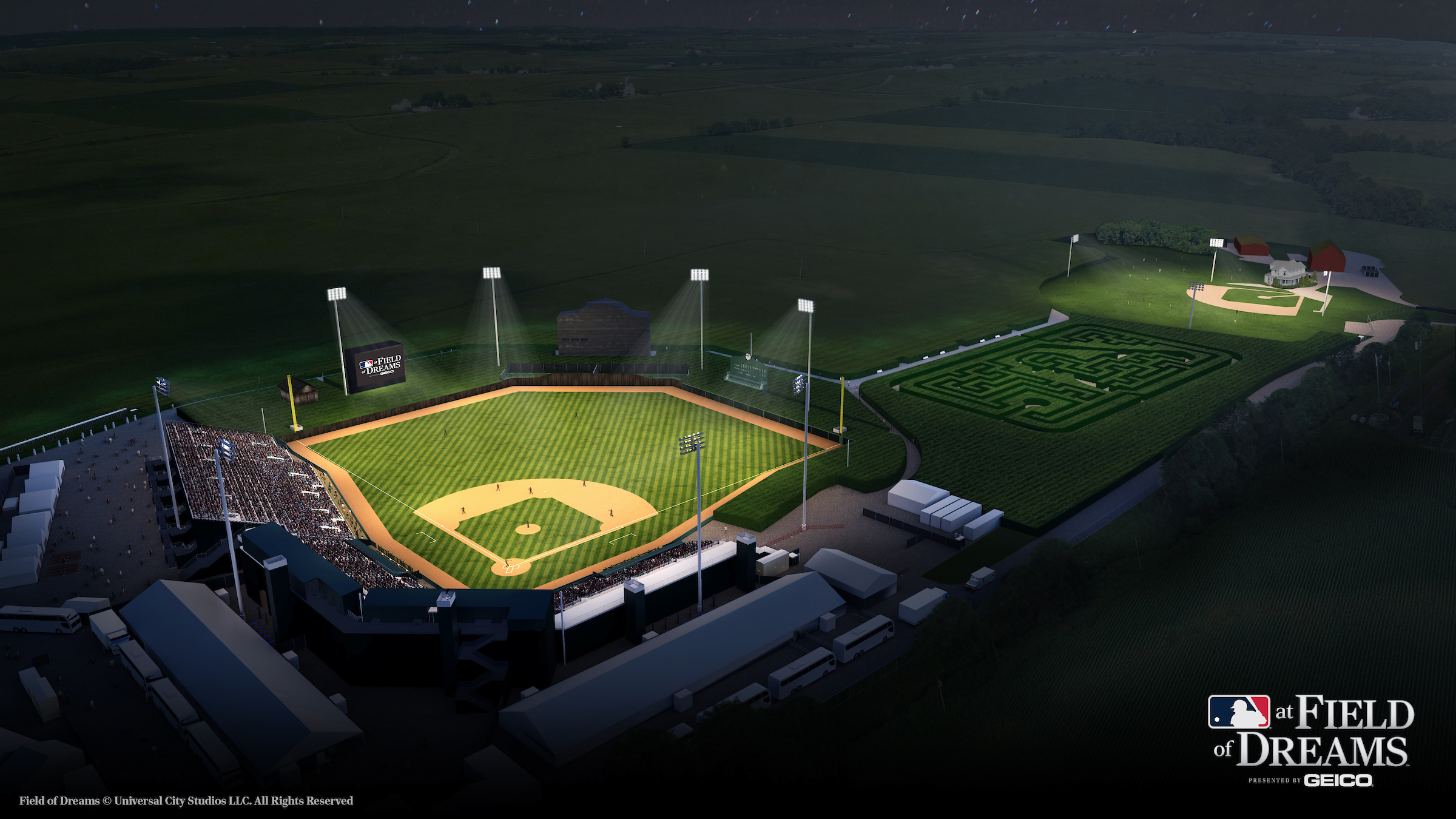 This pop-up baseball field in Iowa will host the White Sox and Yankees next week.