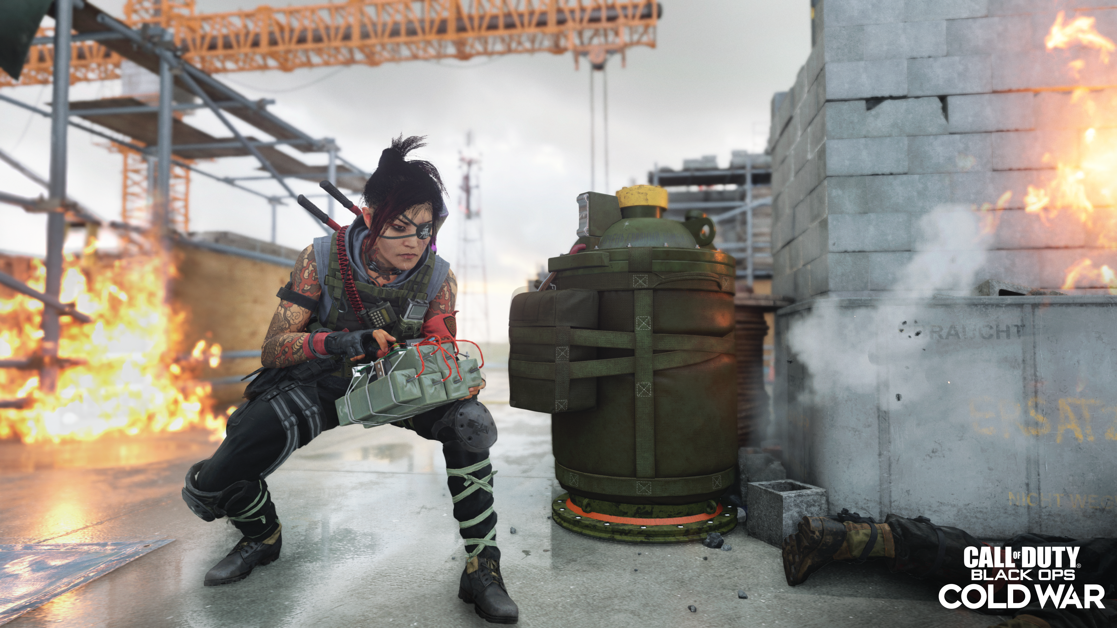 Call of Duty: Black Ops Cold War's Kitsune Operator in the Double Agent game mode