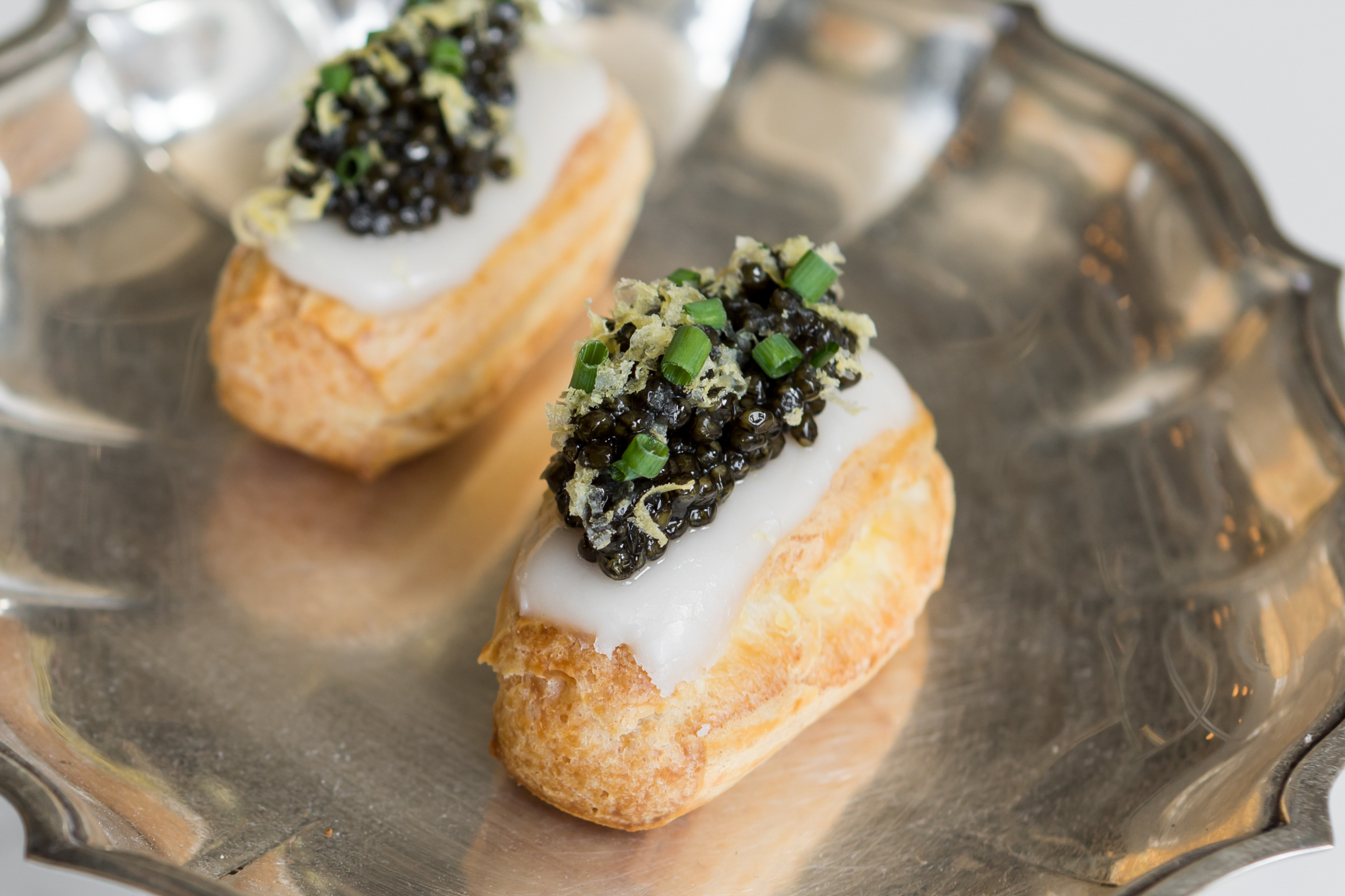Caviar eclairs from Le Fantastique