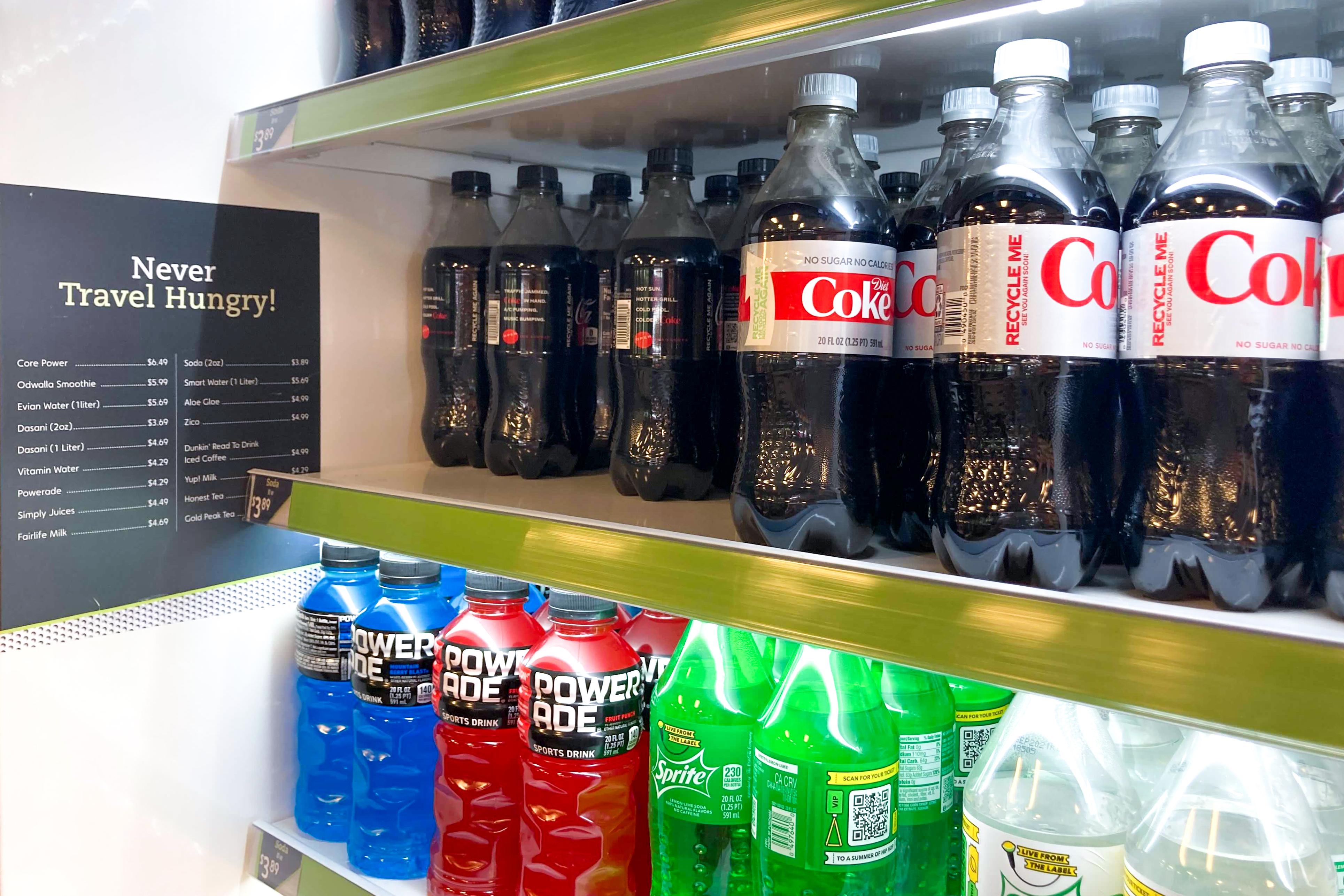 Beverage prices at LaGuardia's Terminal B, July 28, 2021.