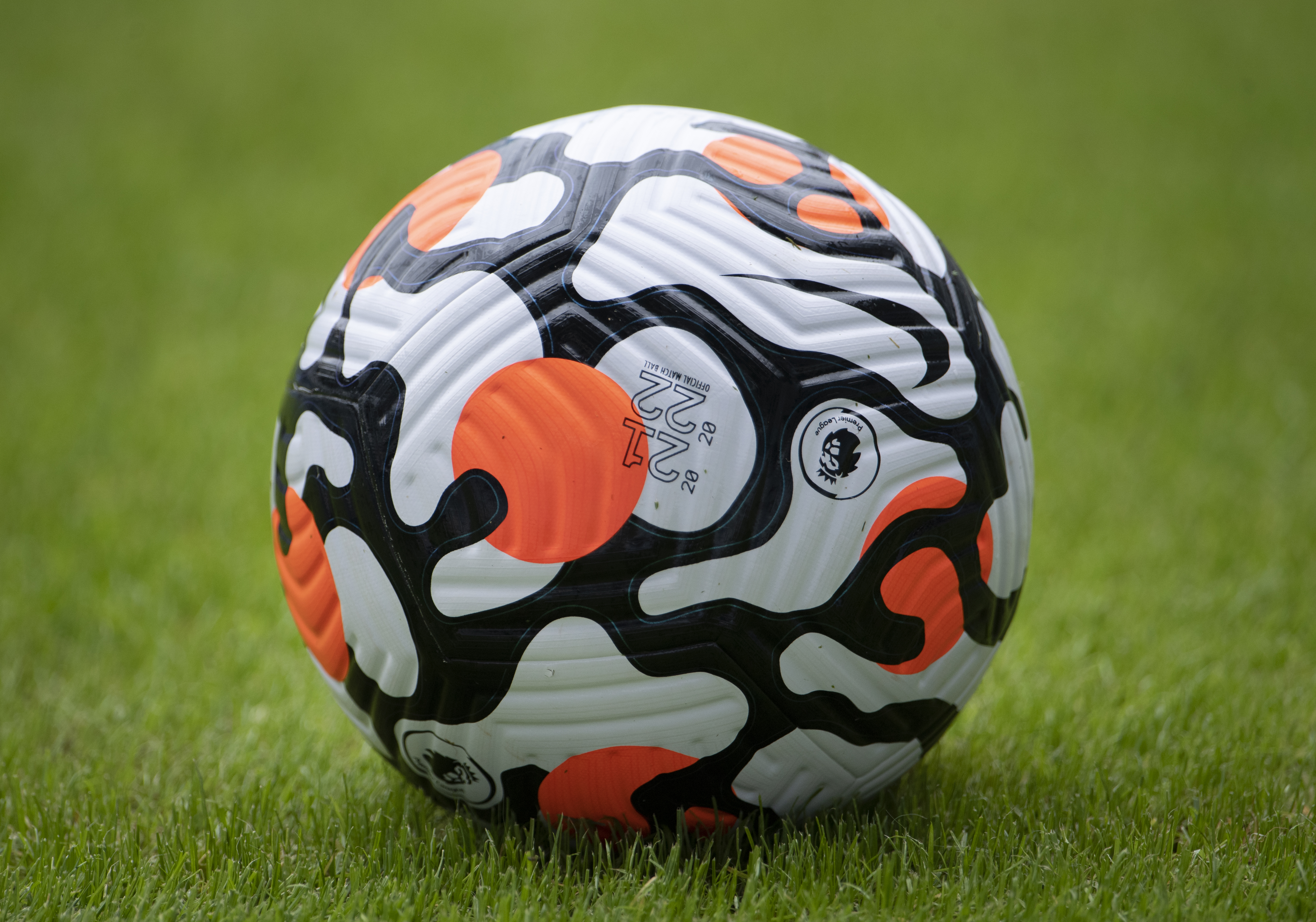 The official Nike Premier League match ball during the pre-season friendly between Coventry City and Wolverhampton Wanderers at the Coventry Building Society Arena on August 1, 2021
