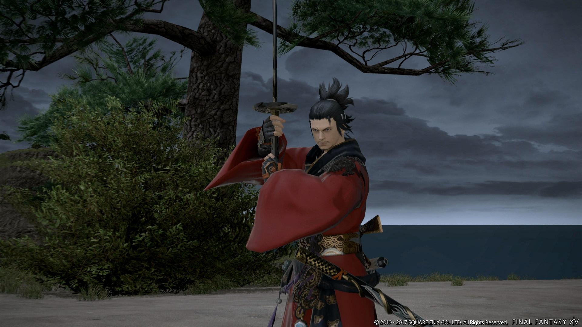 A samurai from Final Fantasy 14