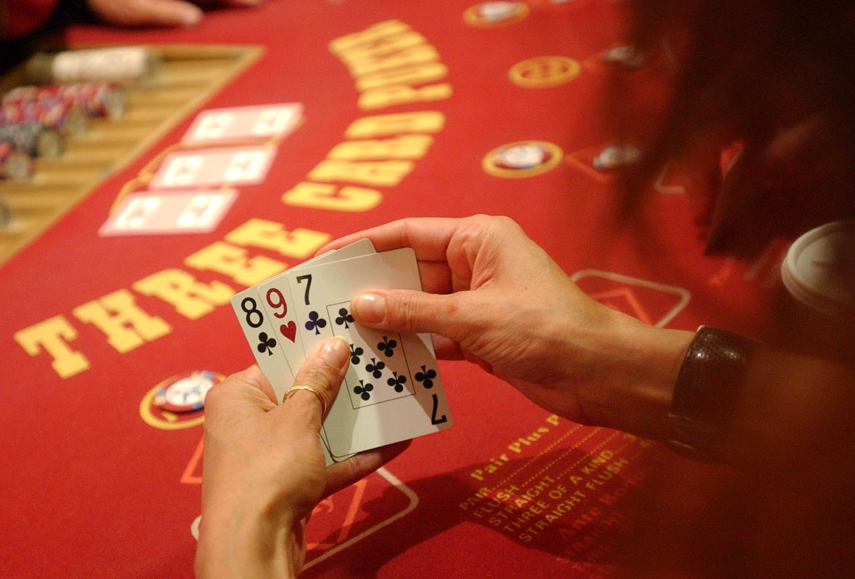 Three-card poker at an Indiana casino in 2004.