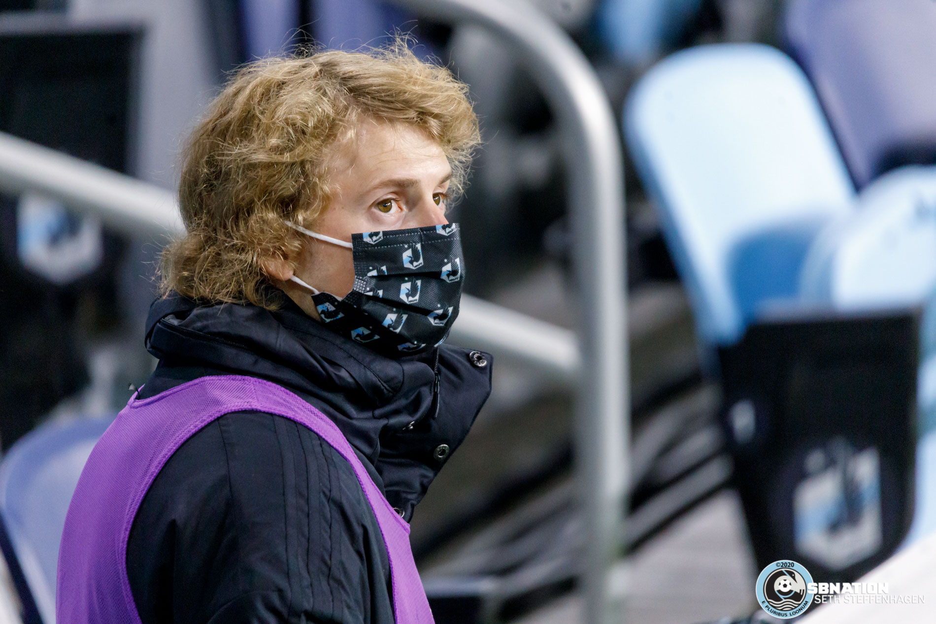 October 28, 2020 - Saint Paul, Minnesota, United States - Minnesota United midfielder Thomás Chacón (11) looks on from the sidelines during the match against the Colorado Rapids at Allianz Field.