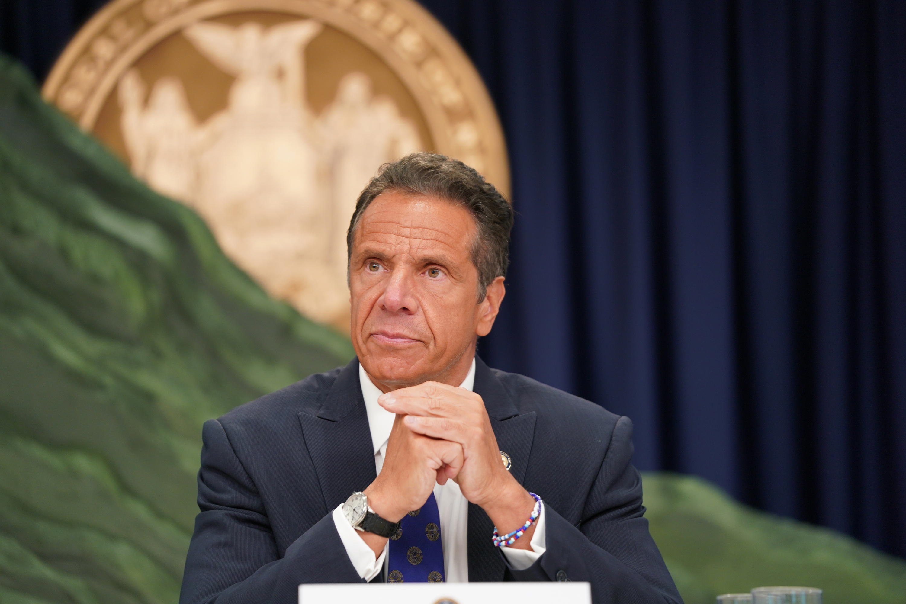 Governor Andrew Cuomo gives an update on the coronavirus outbreak, July 6, 2020.