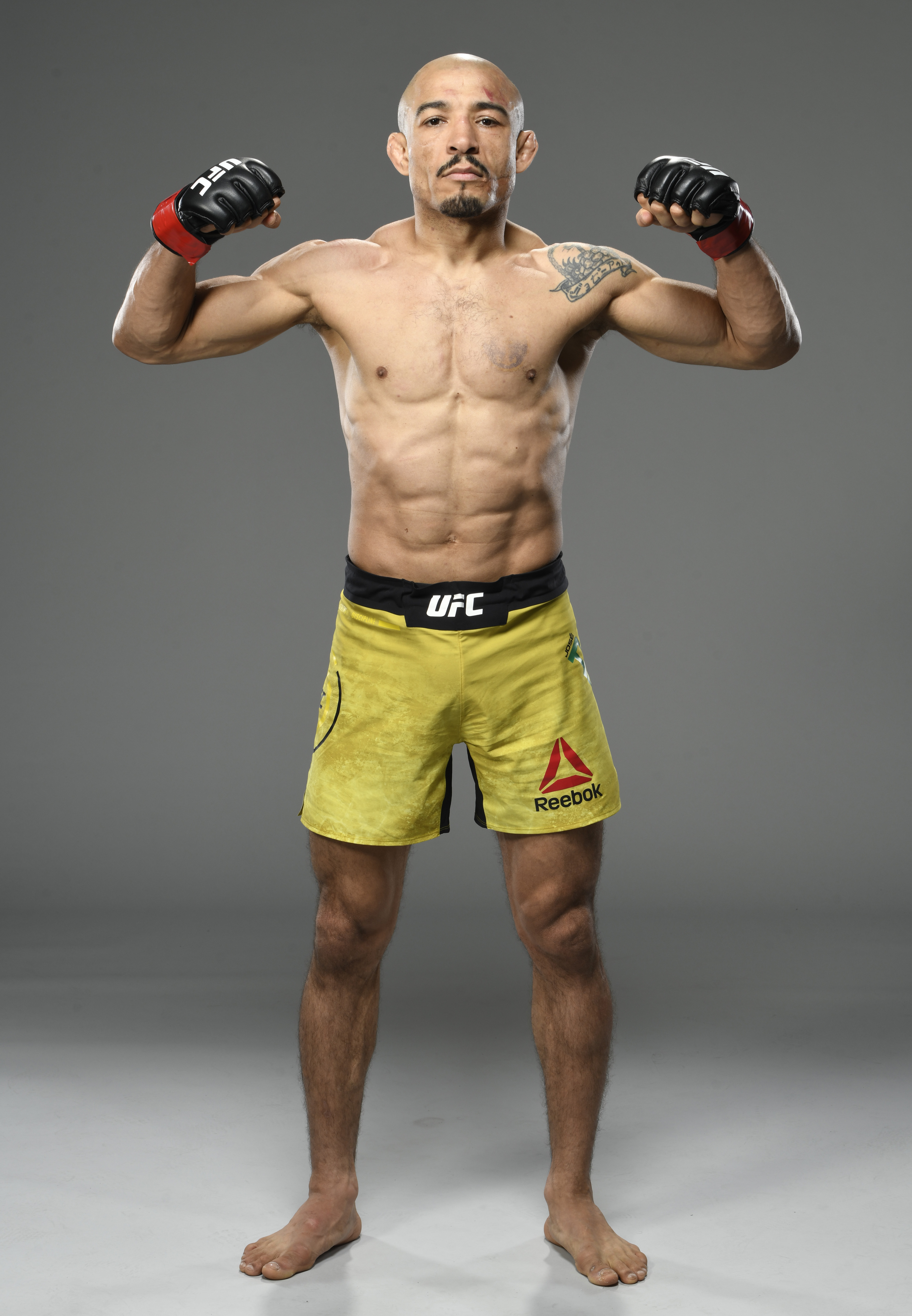 Jose Aldo of Brazil poses for a portrait after his victory during the UFC Fight Night event at UFC APEX on December 19, 2020 in Las Vegas, Nevada.