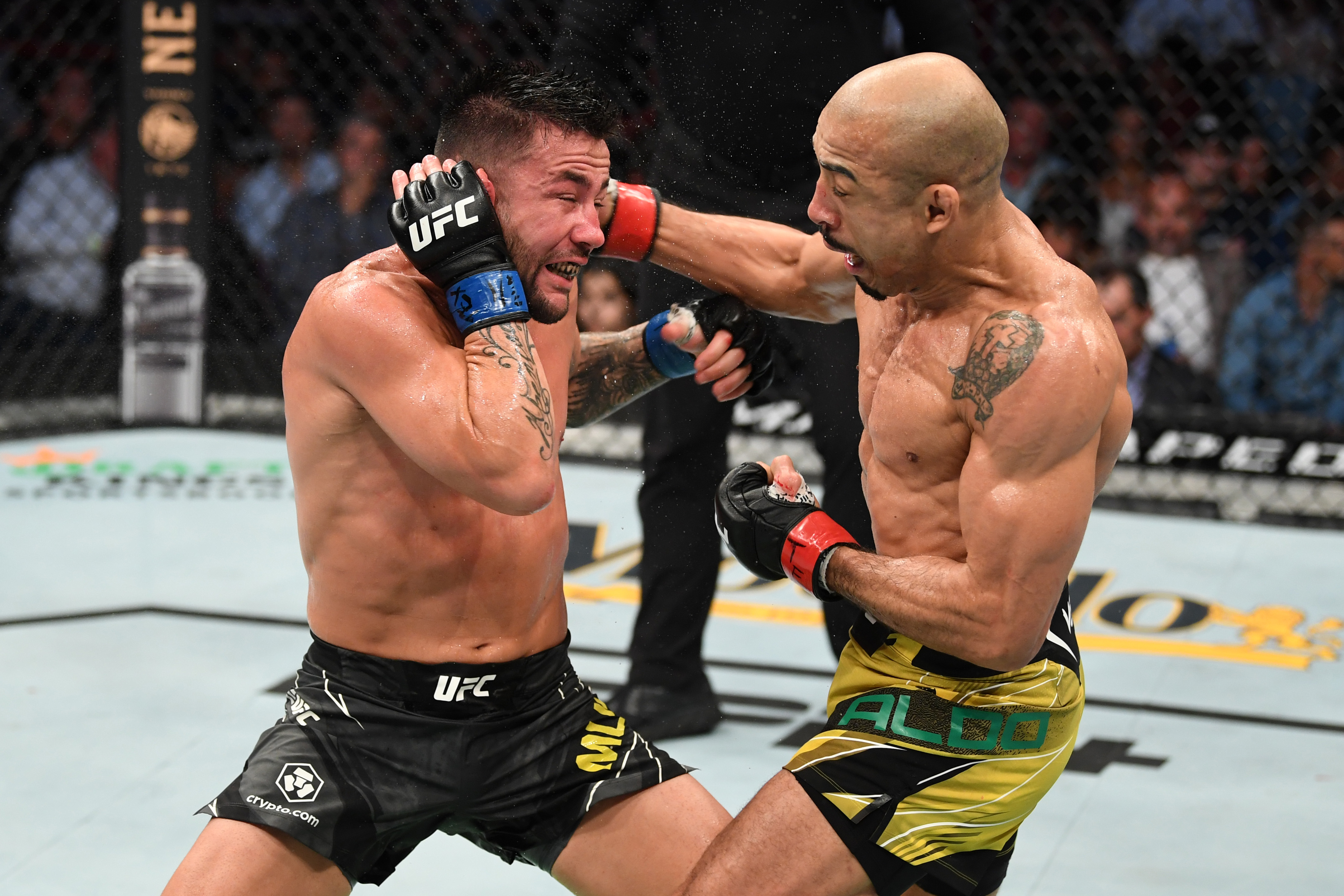 Jose Aldo defeated Pedro Munhoz at UFC 265.