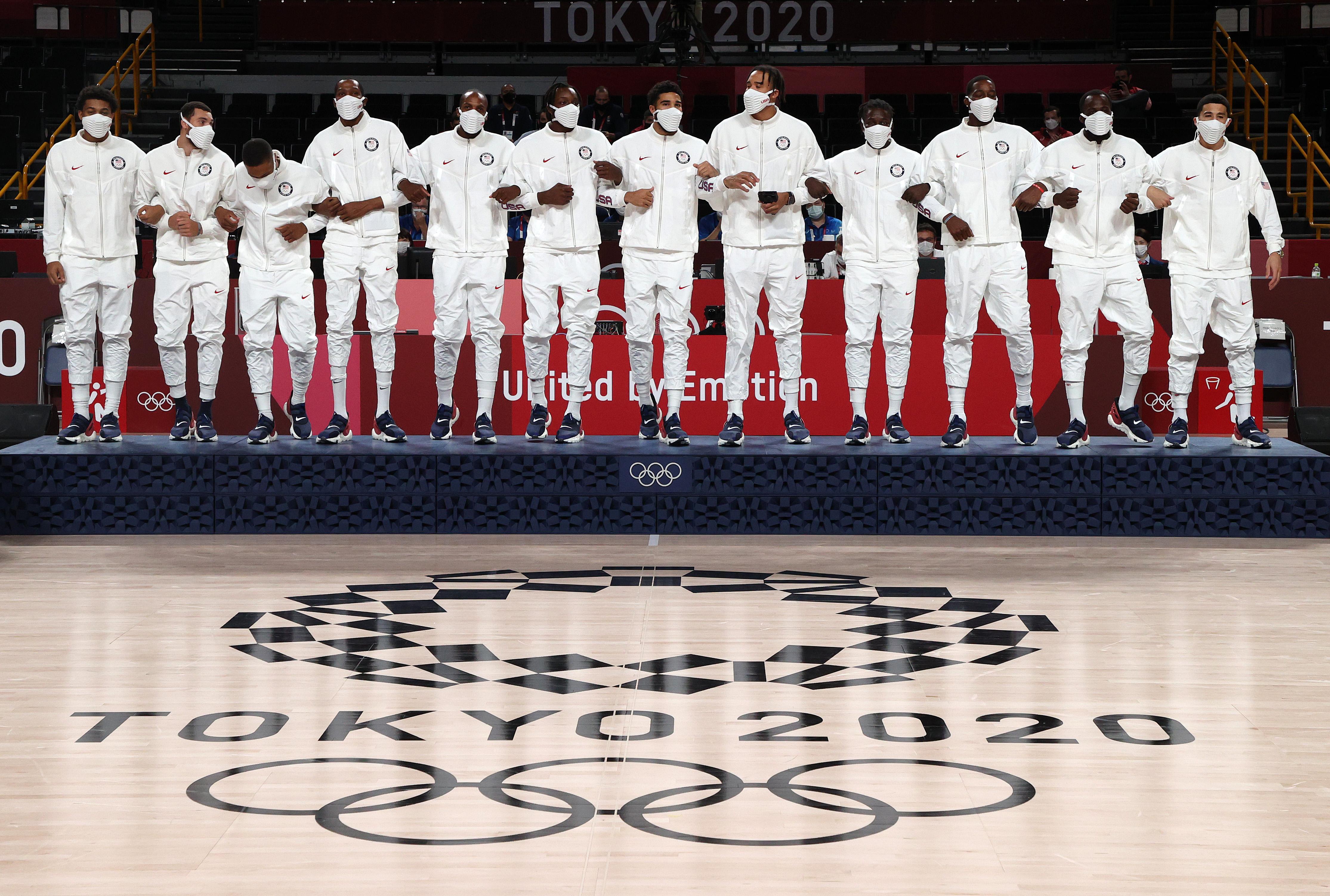 Men's Basketball Medal Ceremony: Day 15