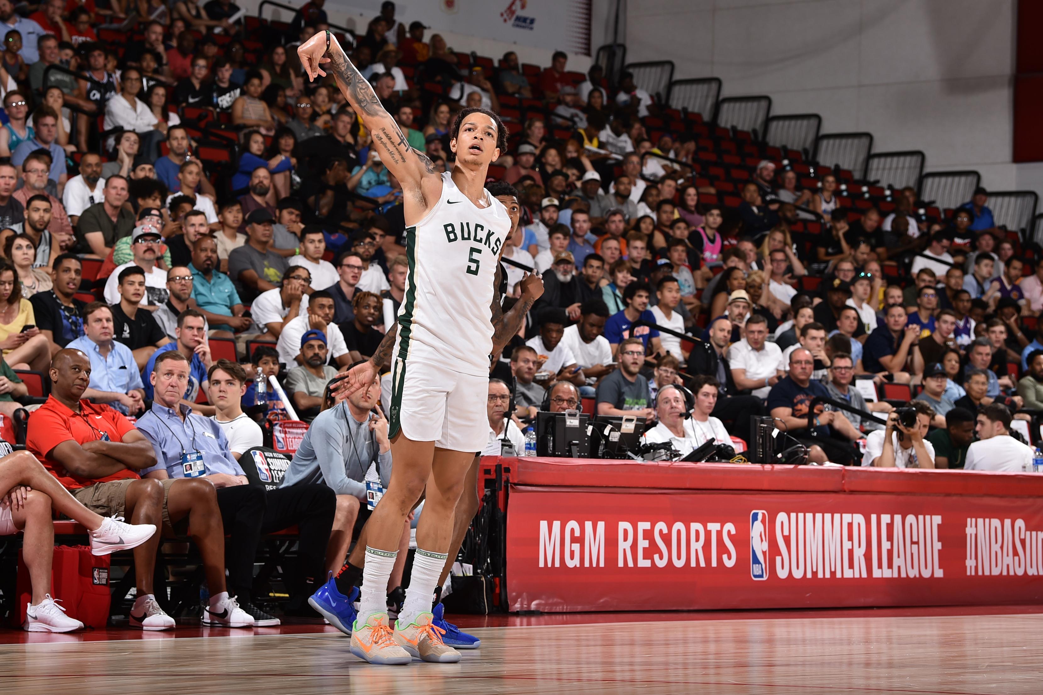 2019 Las Vegas Summer League - Portland Trail Blazers v Milwaukee Bucks