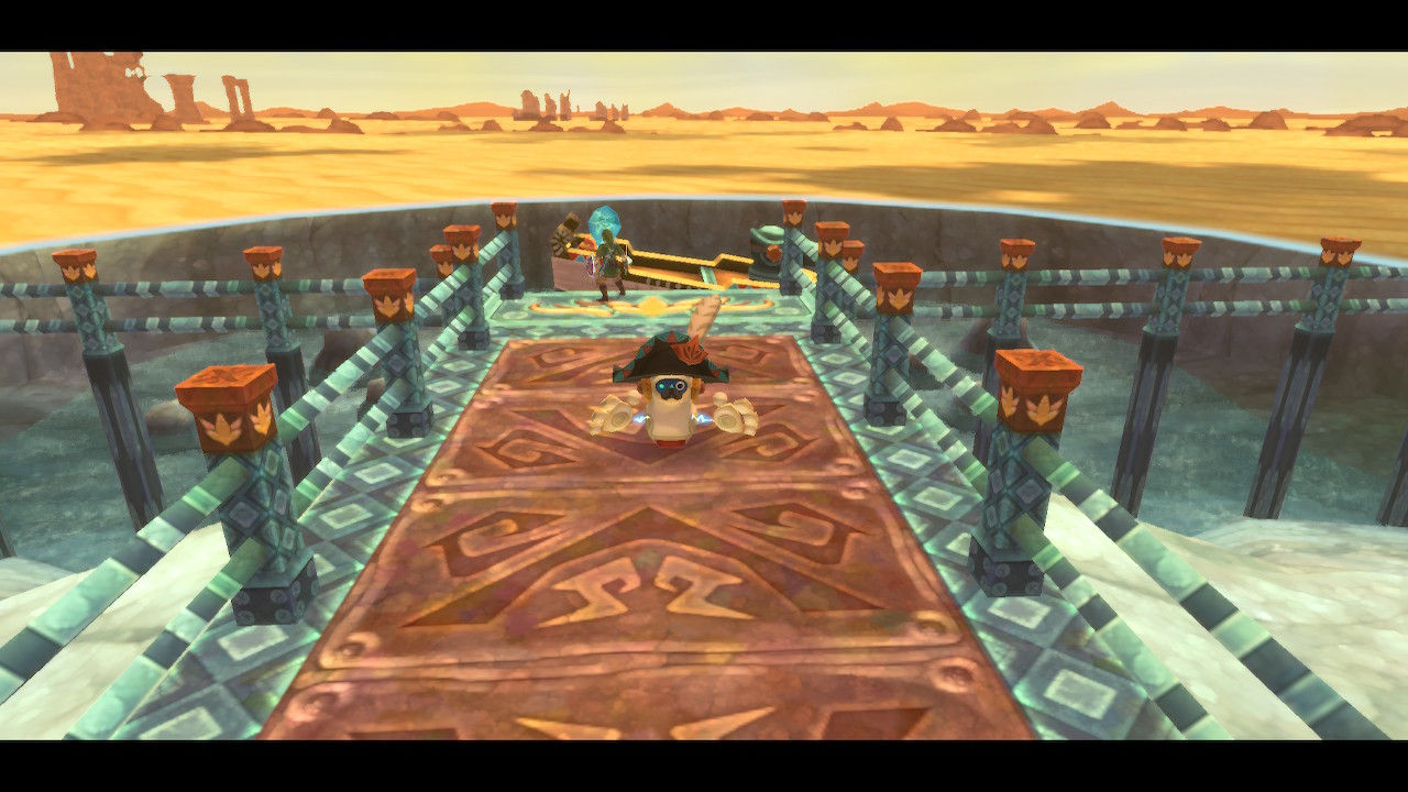 Link activates a Timeshift Stone in Skyward Sword