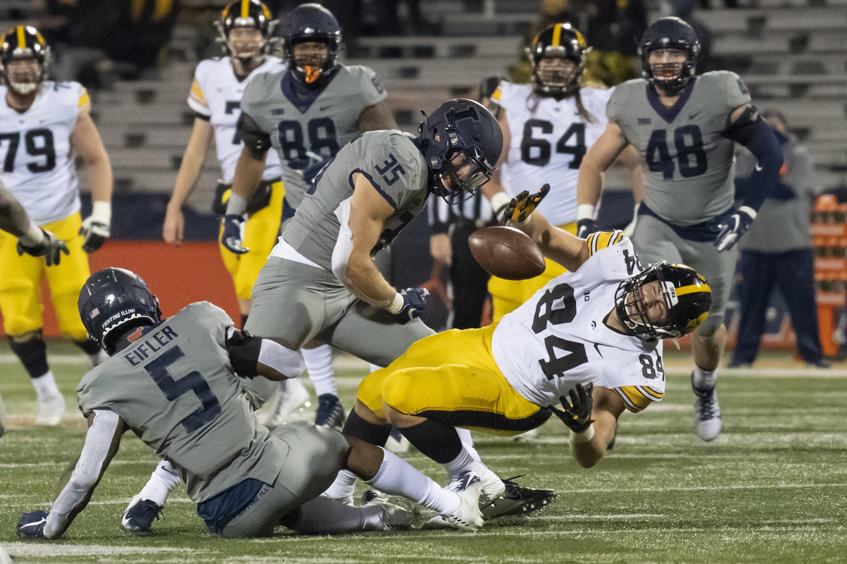 NCAA Football: Iowa at Illinois