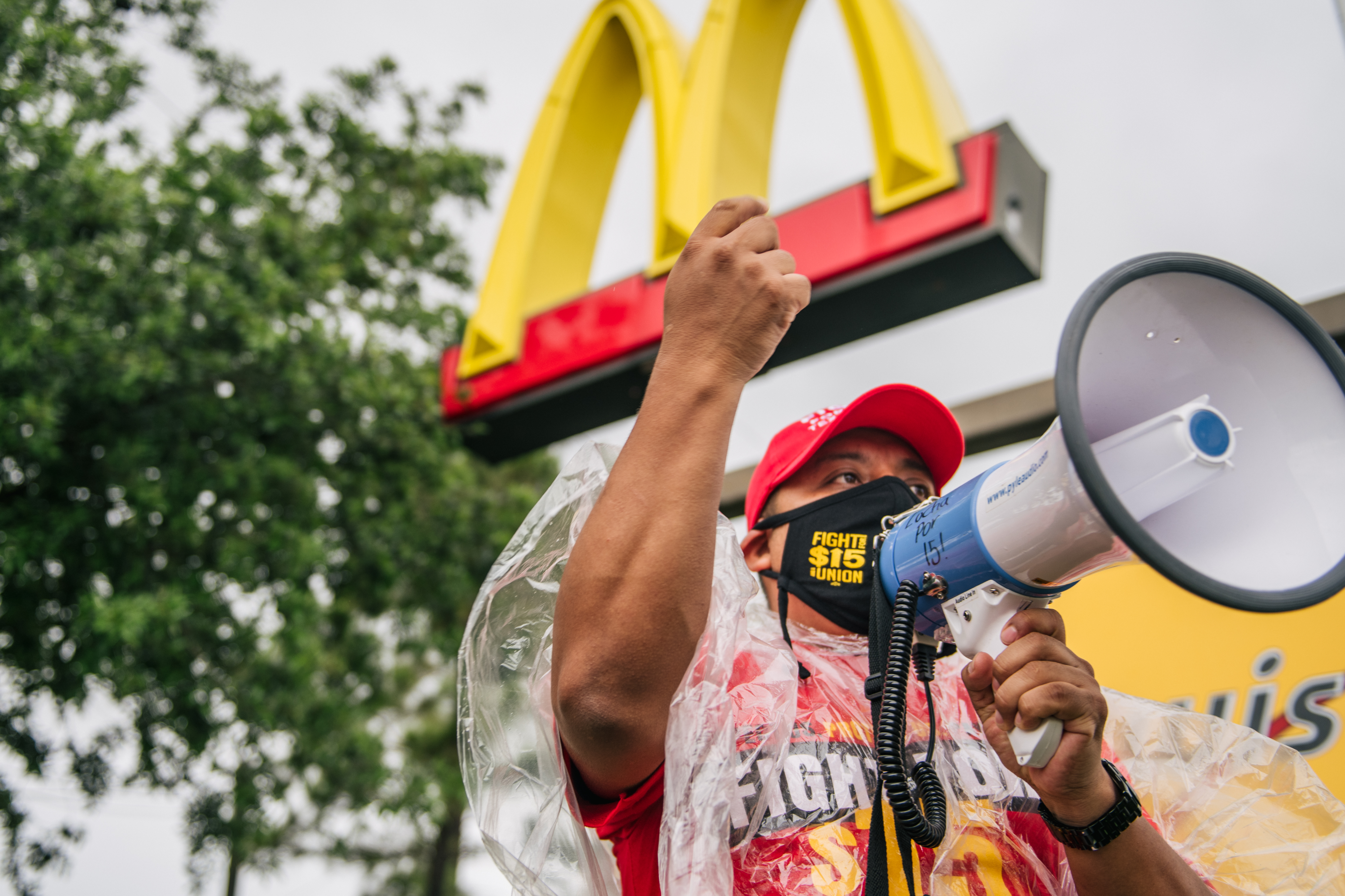Labor Activists And McDonald's Workers Strike To Demand $15 An Hour