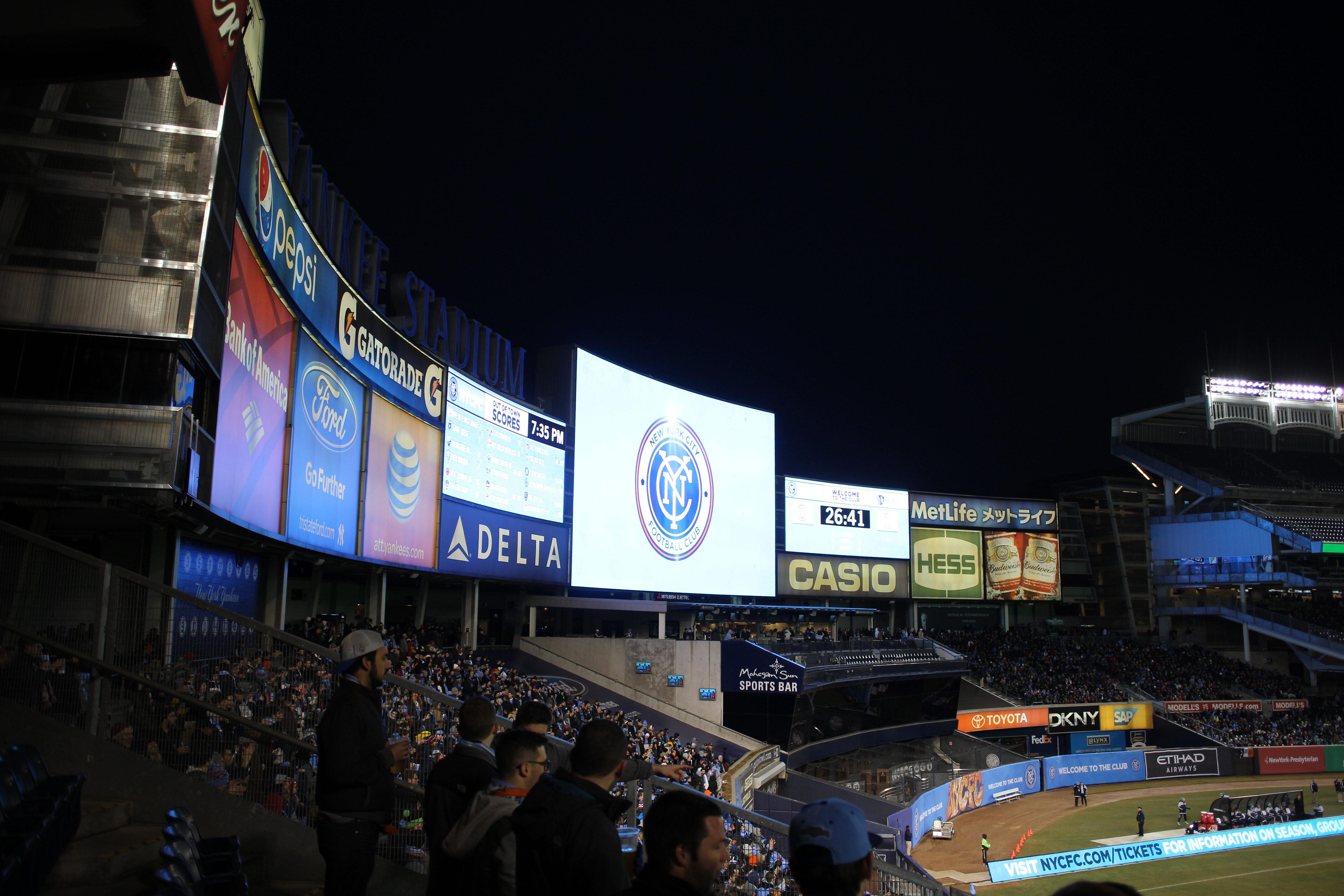 MSL. New York City FC Vs Sporting Kansas City. Yankee Stadium, The Bronx, New York, USA.