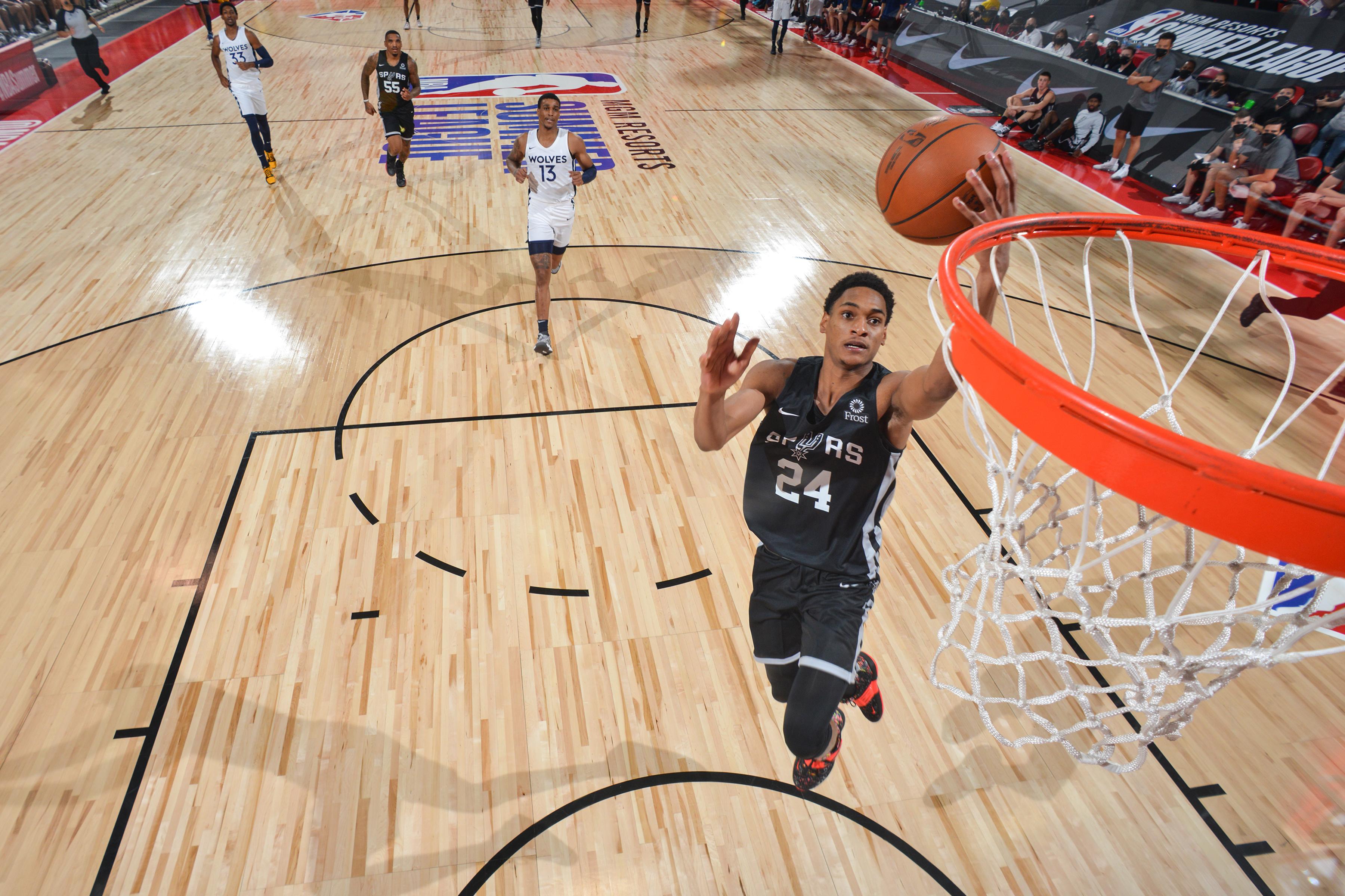 2021 Las Vegas Summer League - San Antonio Spurs v Minnesota Timberwolves